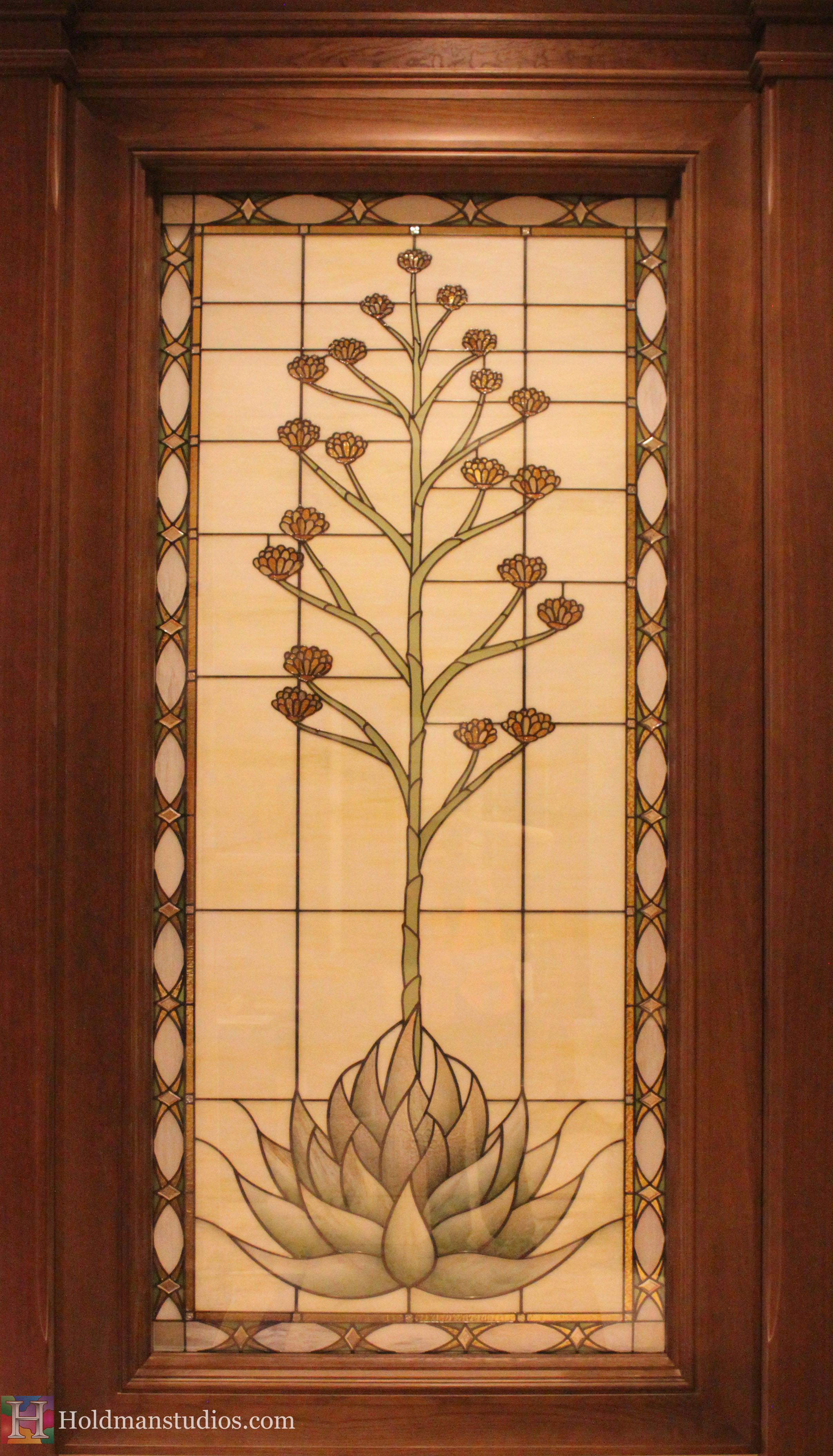 Holdman_Studios_Stained_Art_Glass_LDS_Mormon_Temple_Gilbert_Arizona_Agave_Plant_Flower_Closeup.jpg