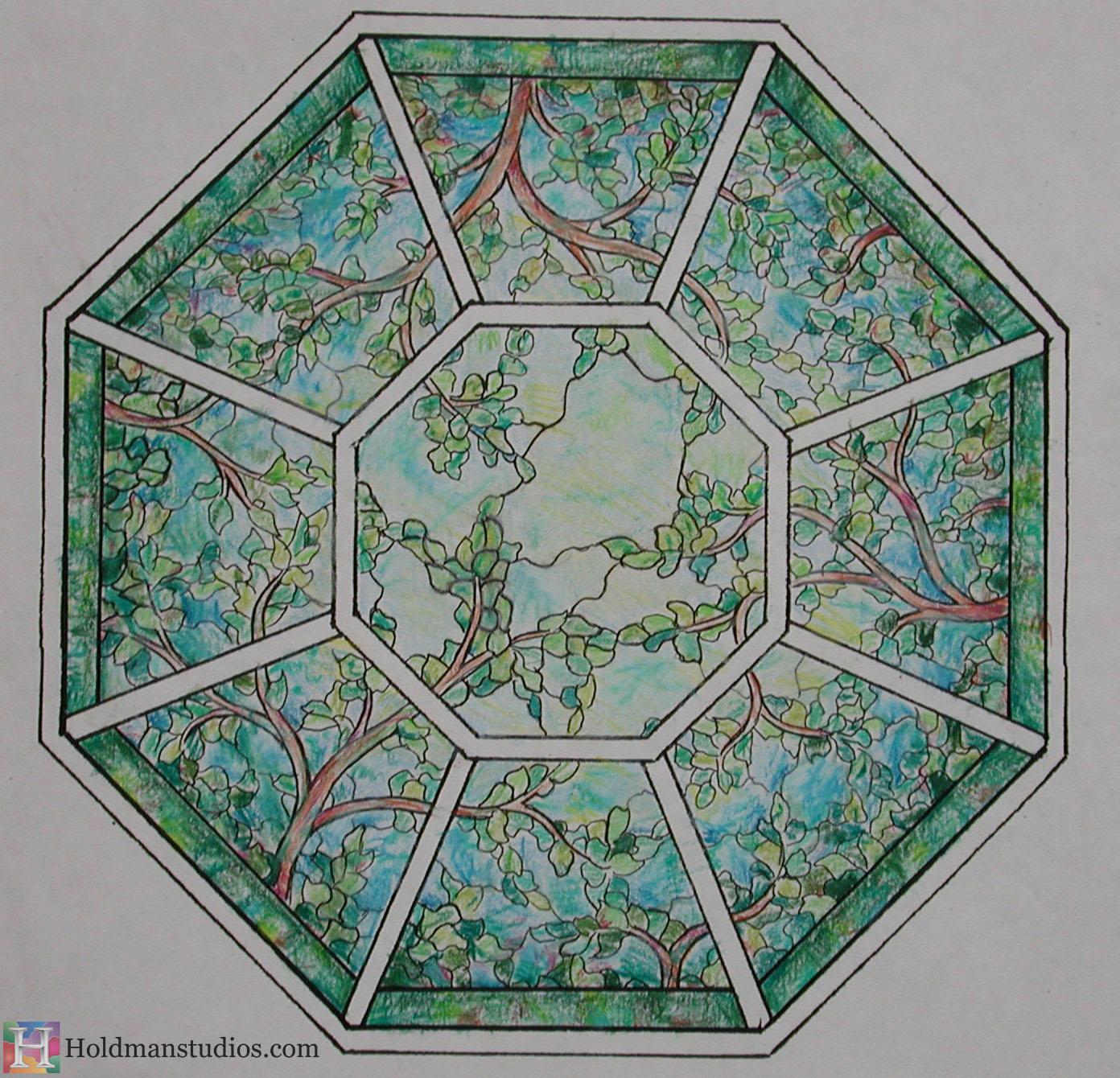 Holdman_Studios_Stained_Art_Glass_LDS_Mormon_Palmyra_New_York_Temple_Sacred_Grove_Tree_of_Life_Skylight_Artist_Sketch.JPG