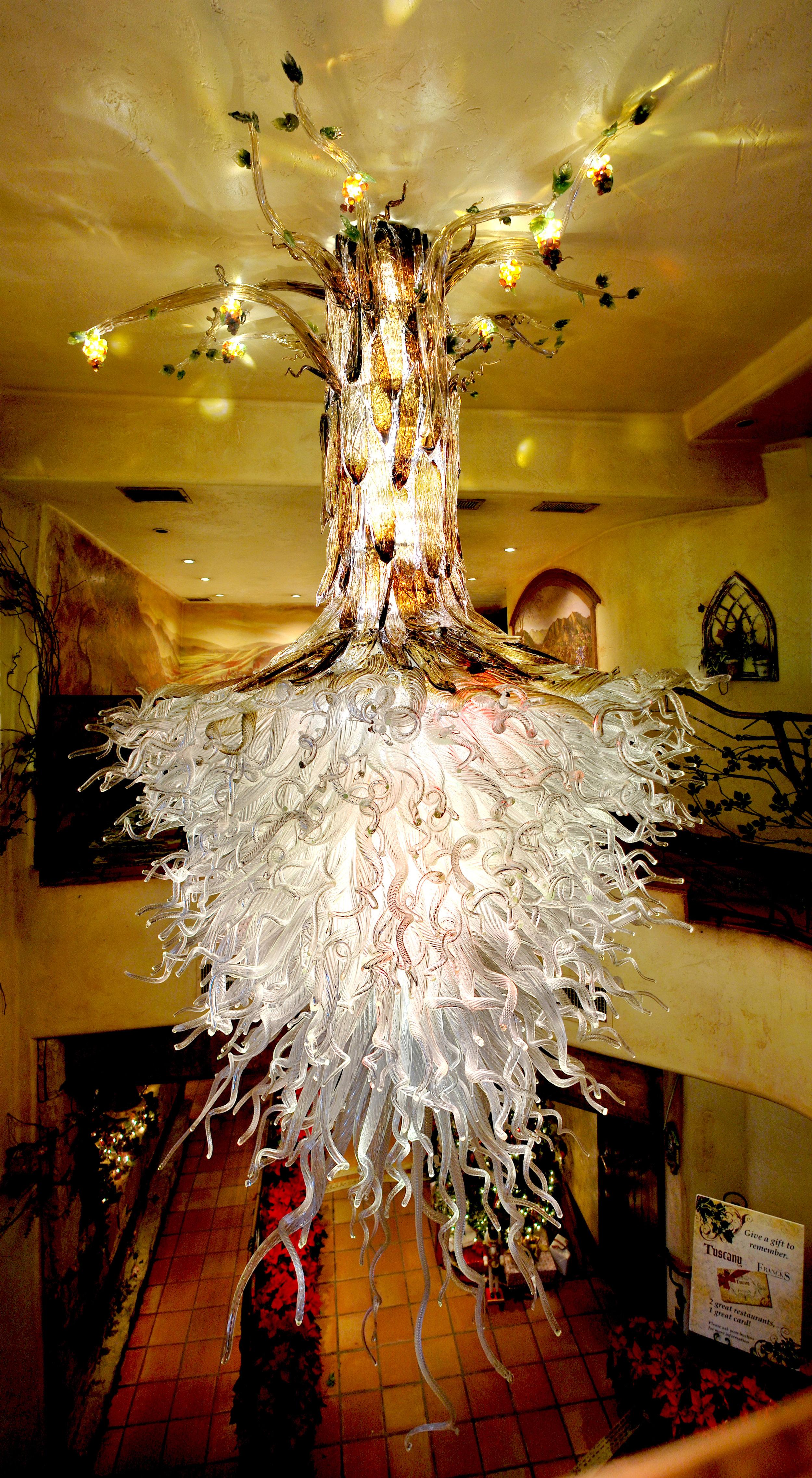 4 Holdman Studio Art and Hot Blown Glass Chandelier Gallery Tuscany Restaurant.jpg