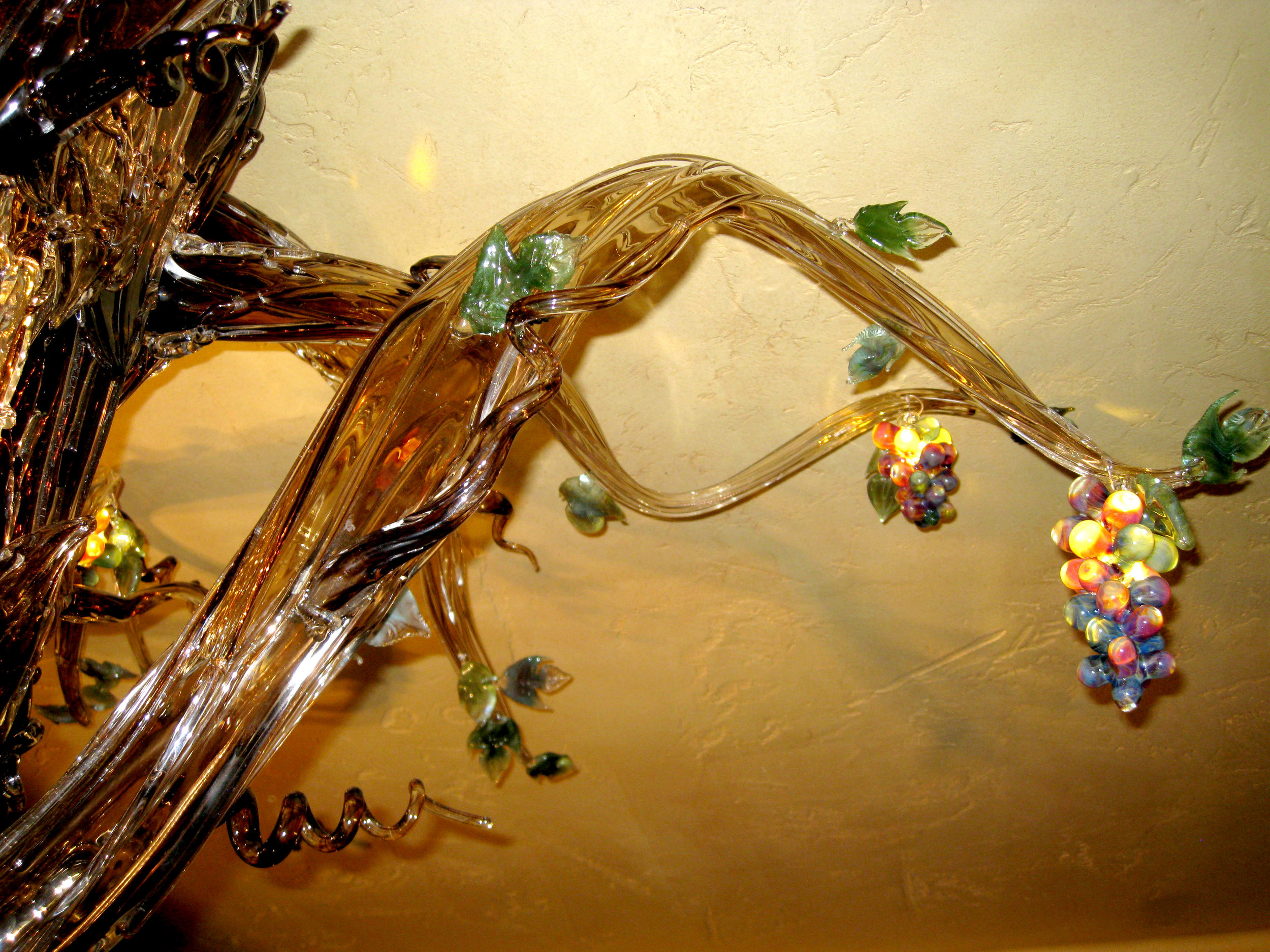 6 Holdman Studio Art and Hot Blown Glass Chandelier Gallery Tuscany Restaurant.jpg
