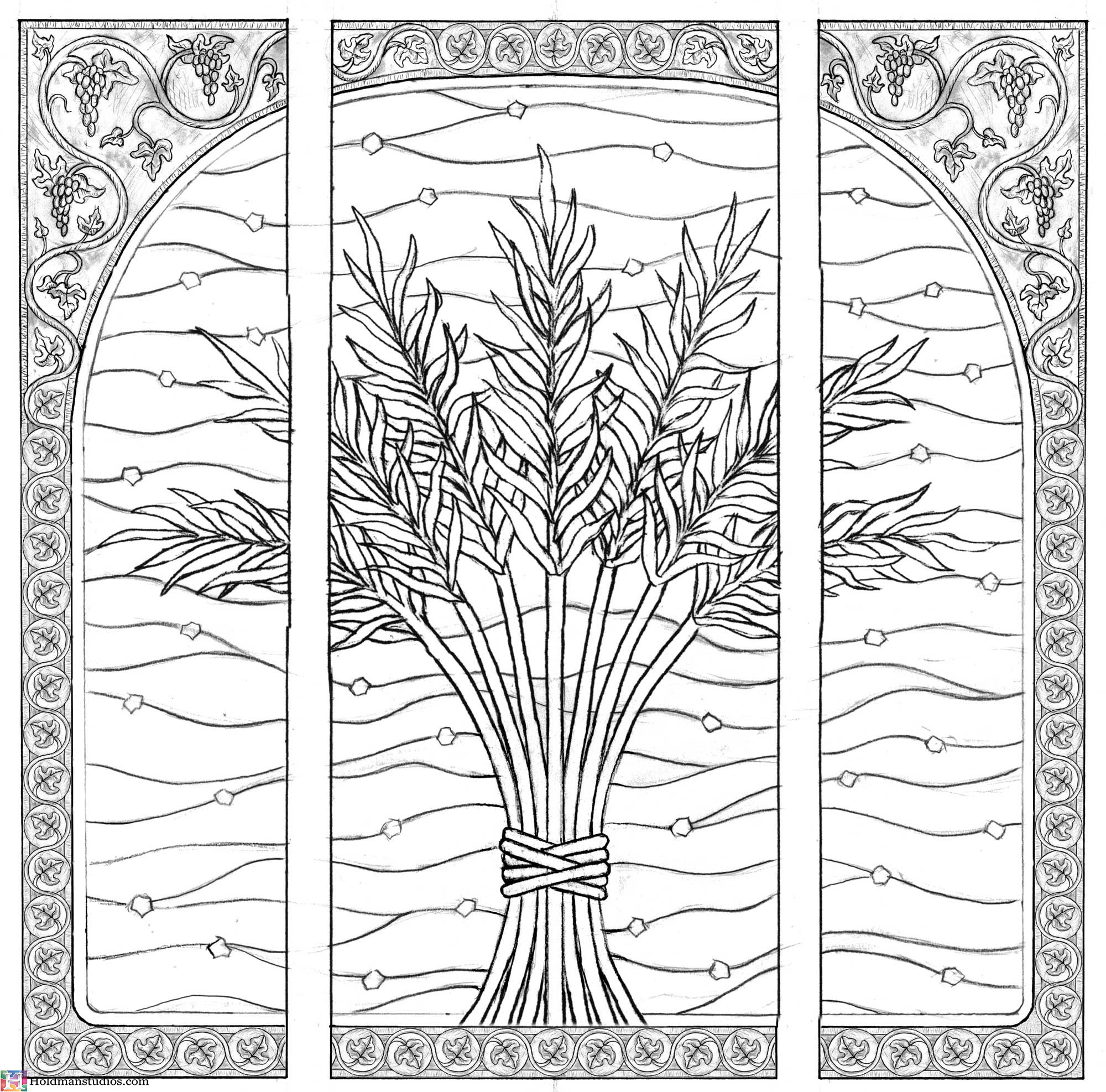 Holdman-Studio-Stained-Etched-Art-Glass-LDS-Mormon-Sao-Paulo-Brazil-Temple-Celestial Room-Grapes-Palm-Leaves-Window-Artist-Sketch.jpg