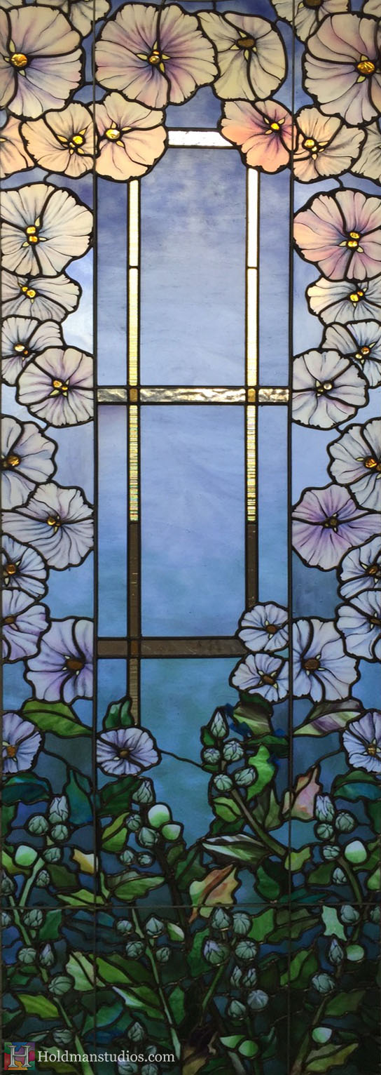 Holdman-Studios-Stained-Glass-Paris-LDS-Temple-Cornflower-Blue-Lily-Flowers-Buds-Leaves-Windows.jpg