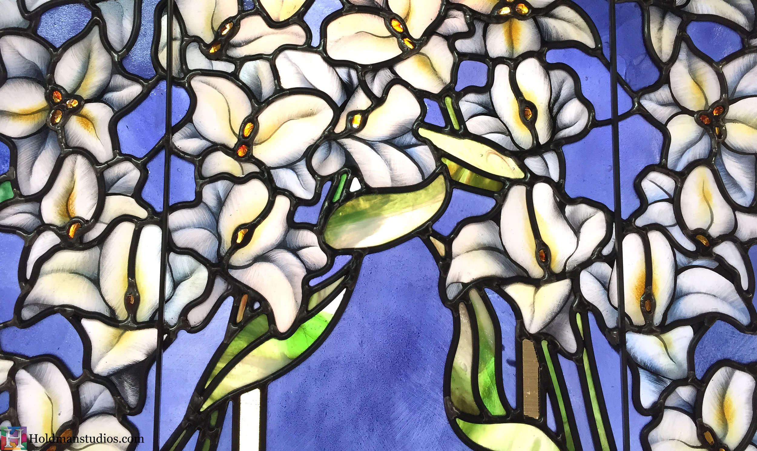 Holdman-Studios-Stained-Glass-Paris-LDS-Temple-Madonna-Lily-Flowers-Leaves-Closeup-Window.jpg