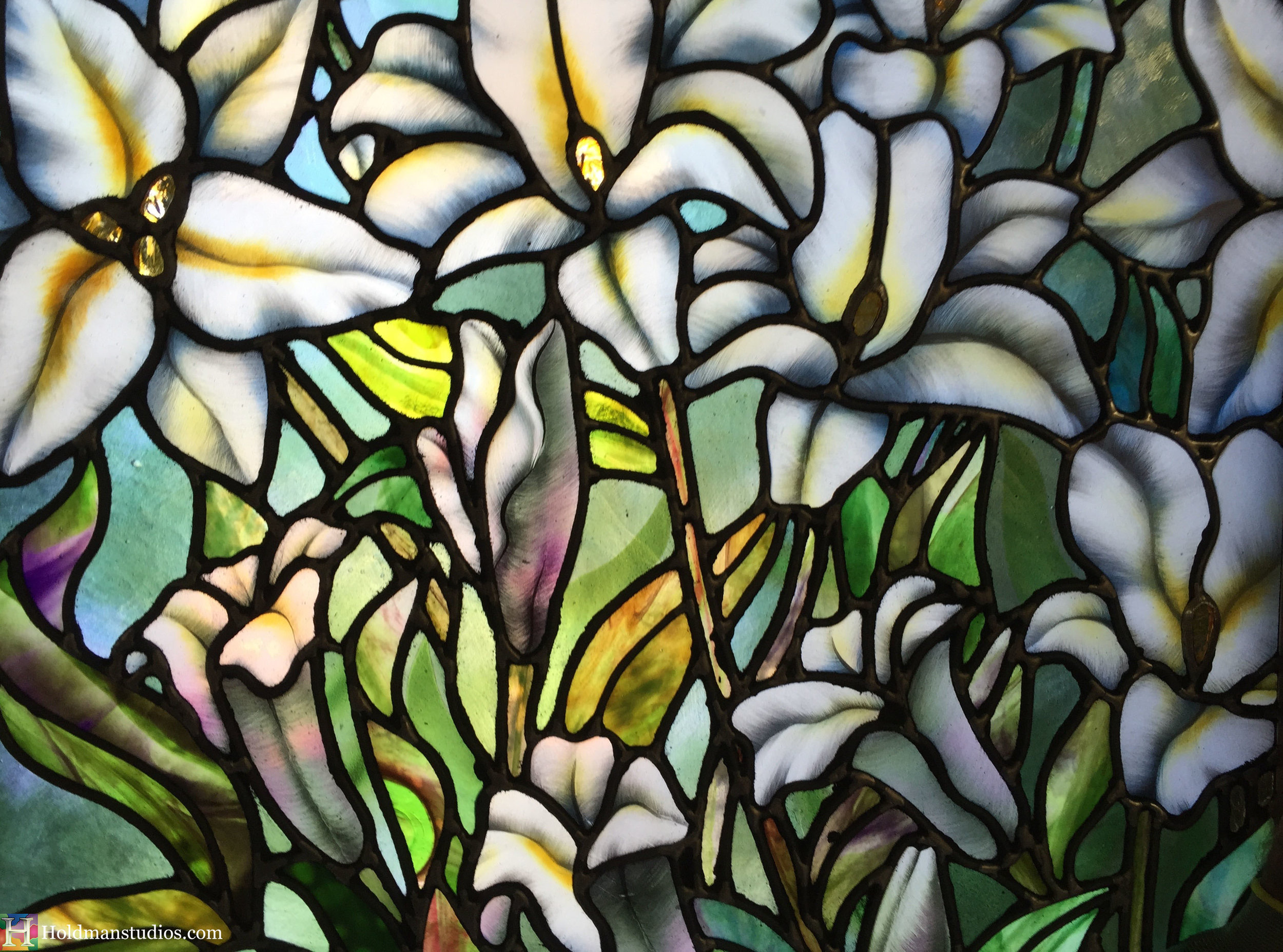 Holdman-Studios-Stained-Glass-Paris-LDS-Temple-Madonna-Lily-Flowers-Leaves-Crop-Window.jpg