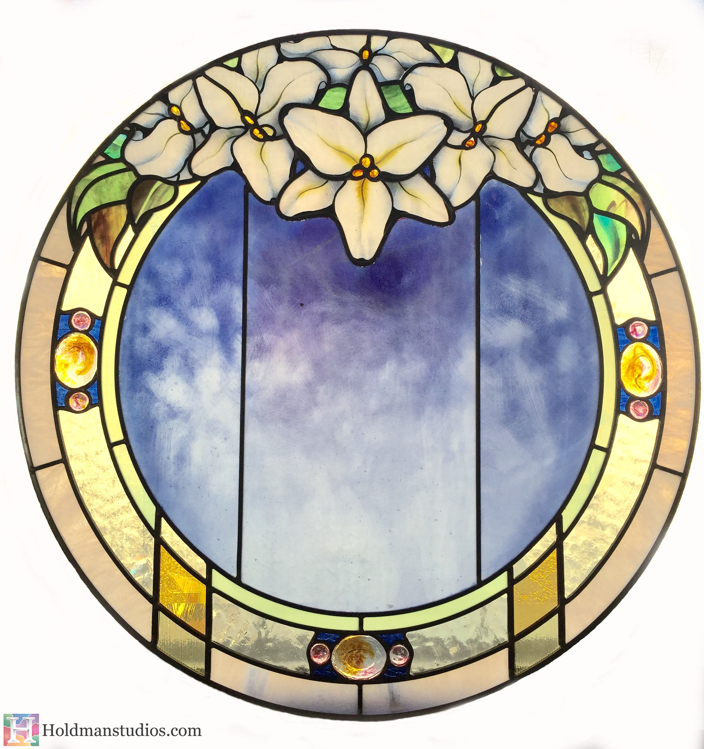 Holdman-Studios-Stained-Glass-Paris-LDS-Temple-Madonna-Lily-Flowers-Leaves-Round-Window.jpg