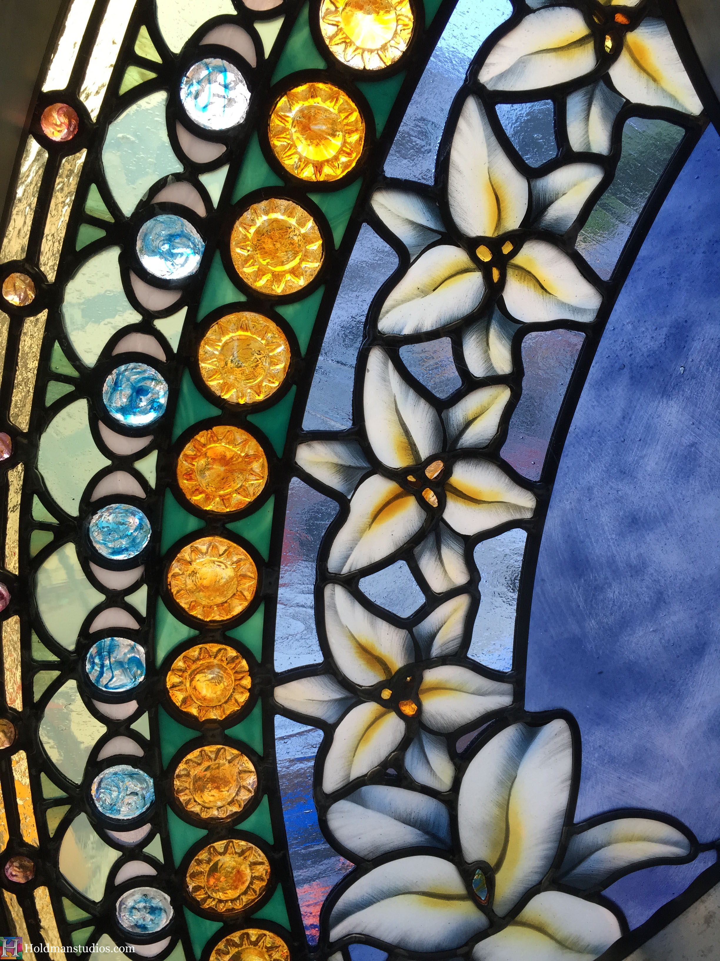 Holdman-Studios-Stained-Glass-Paris-LDS-Temple-Madonna-Lily-Flowers-Leaves-Handmade-Jewels-Crop-Window.jpg