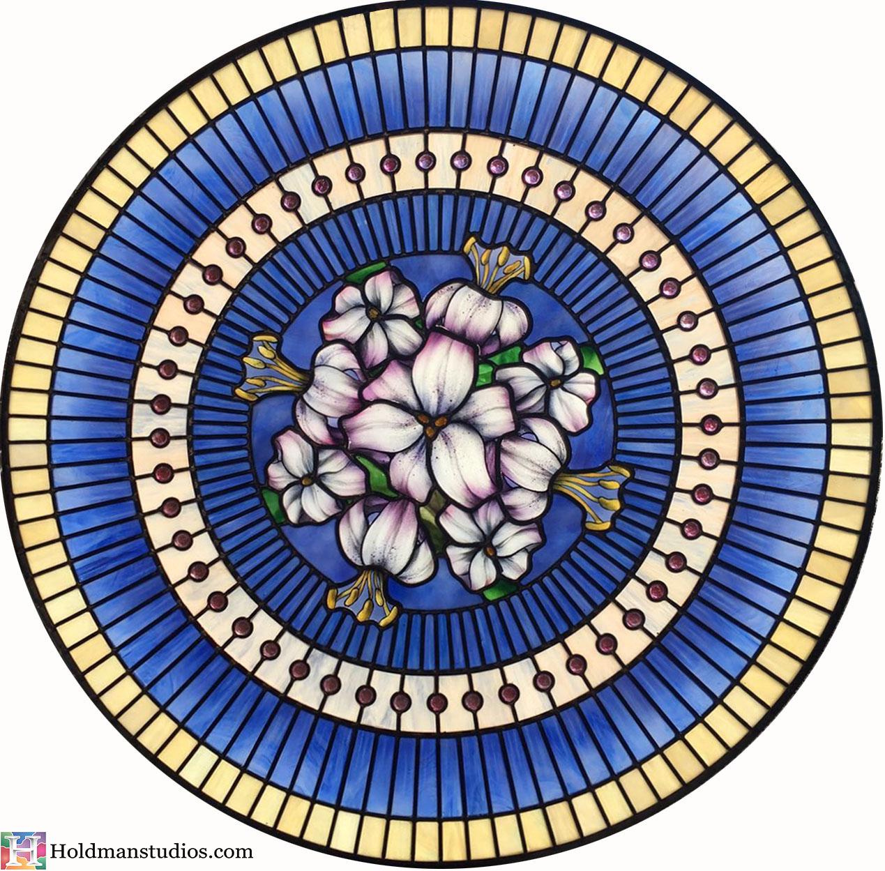 Holdman-Studios-Stained-Glass-Paris-LDS-Temple-Martagon-Lily-Flowers-Leaves-Sun-Moon-Stars-Round-Skylight-Window2.jpg