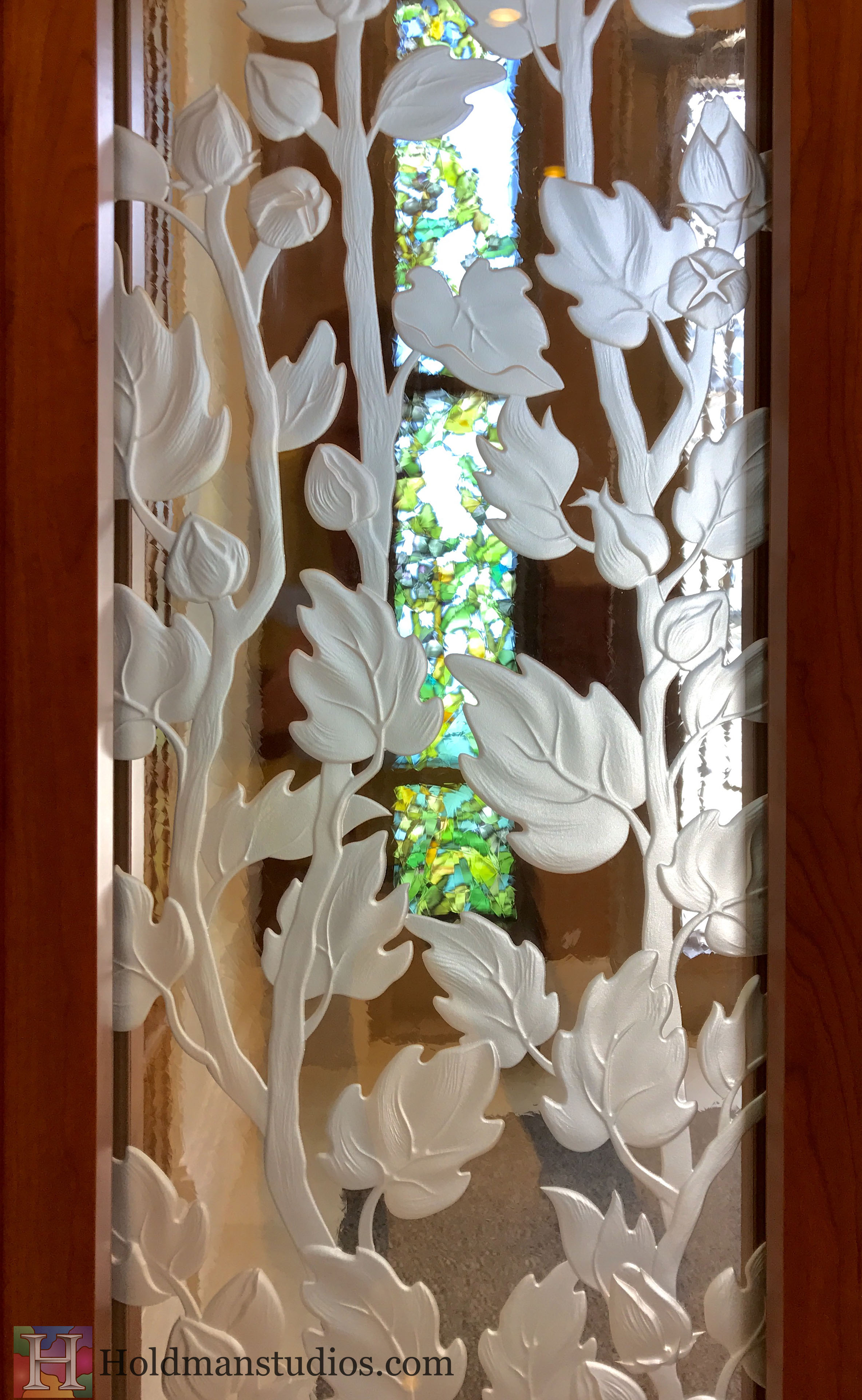 Holdman-Studios-Stained-Etched-Glass-Paris-LDS-Temple-Cornflower-Blue-Lily-Flowers-Buds-Leaves-Window.jpg