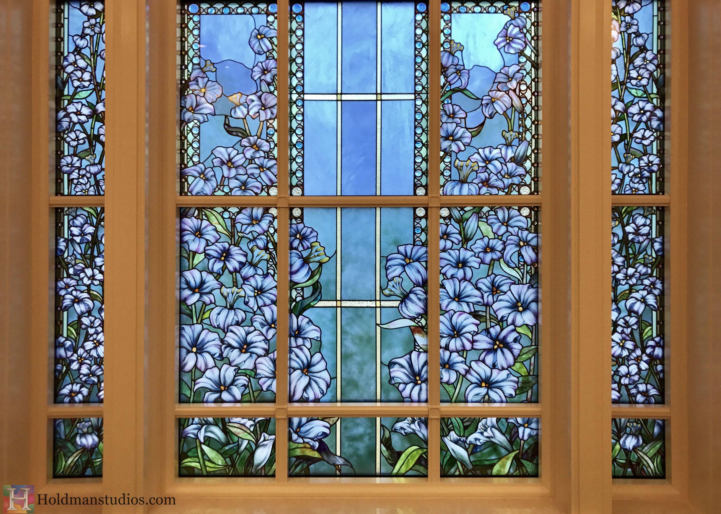 Holdman-Studios-Stained-Glass-Paris-LDS-Temple-Madonna-Lily-Flowers-Leaves-Window.jpg