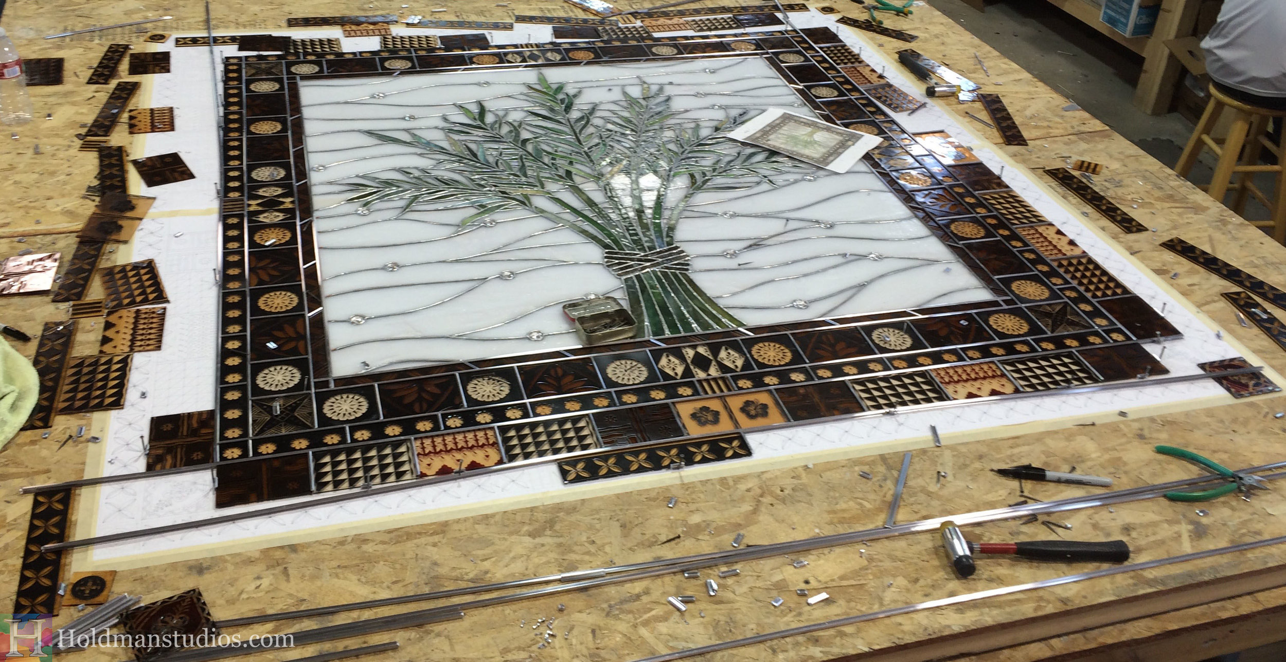 Holdman-Studios-Stained-Etched-Glass-Window-Harvest-Branches-Palm-Leaves-With-Border-Working.jpg