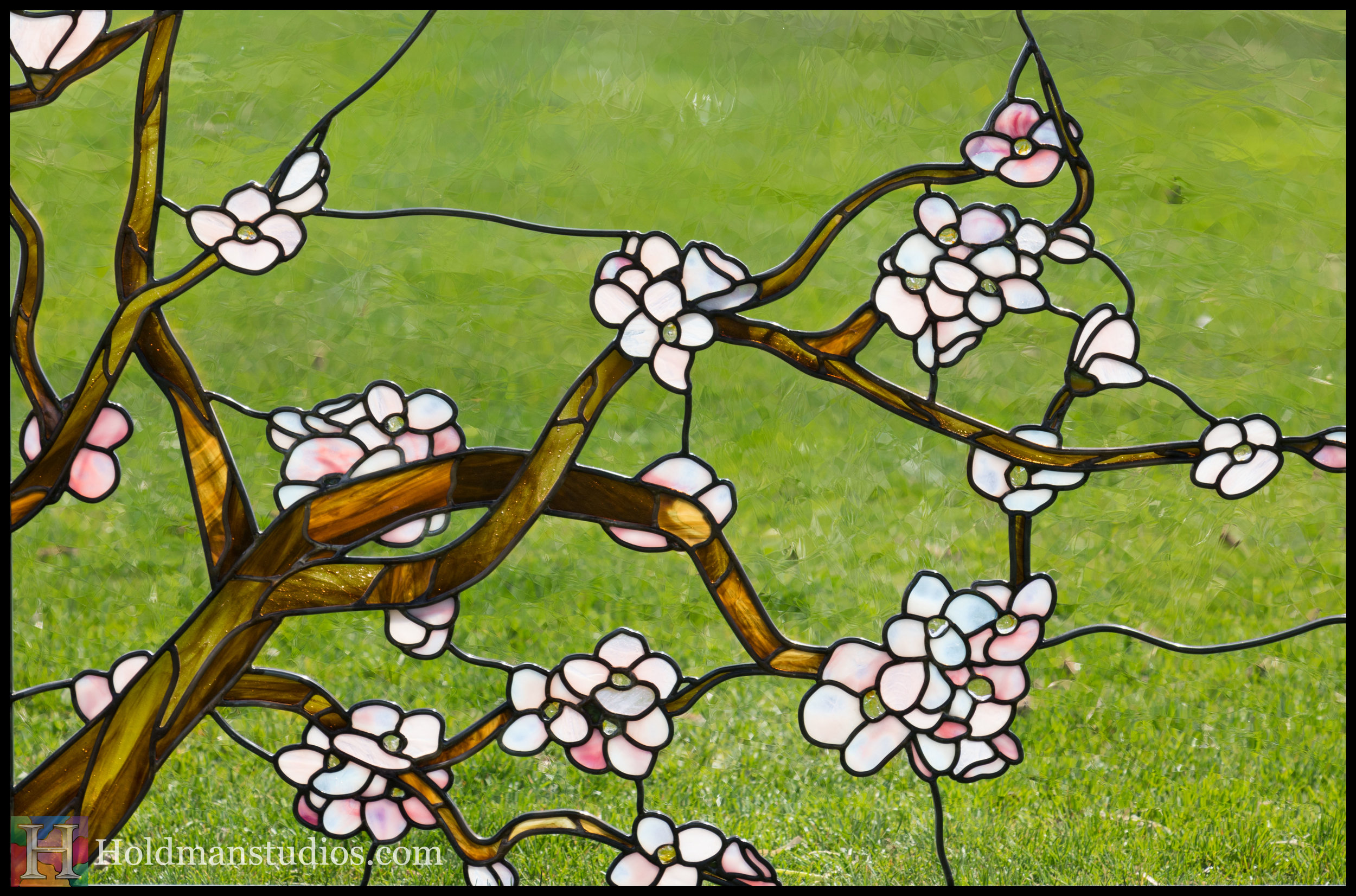 Holdman-Studios-Stained-Glass-Window-Cherry-Tree-Branches-Blossom-Flowers-Grass.jpg