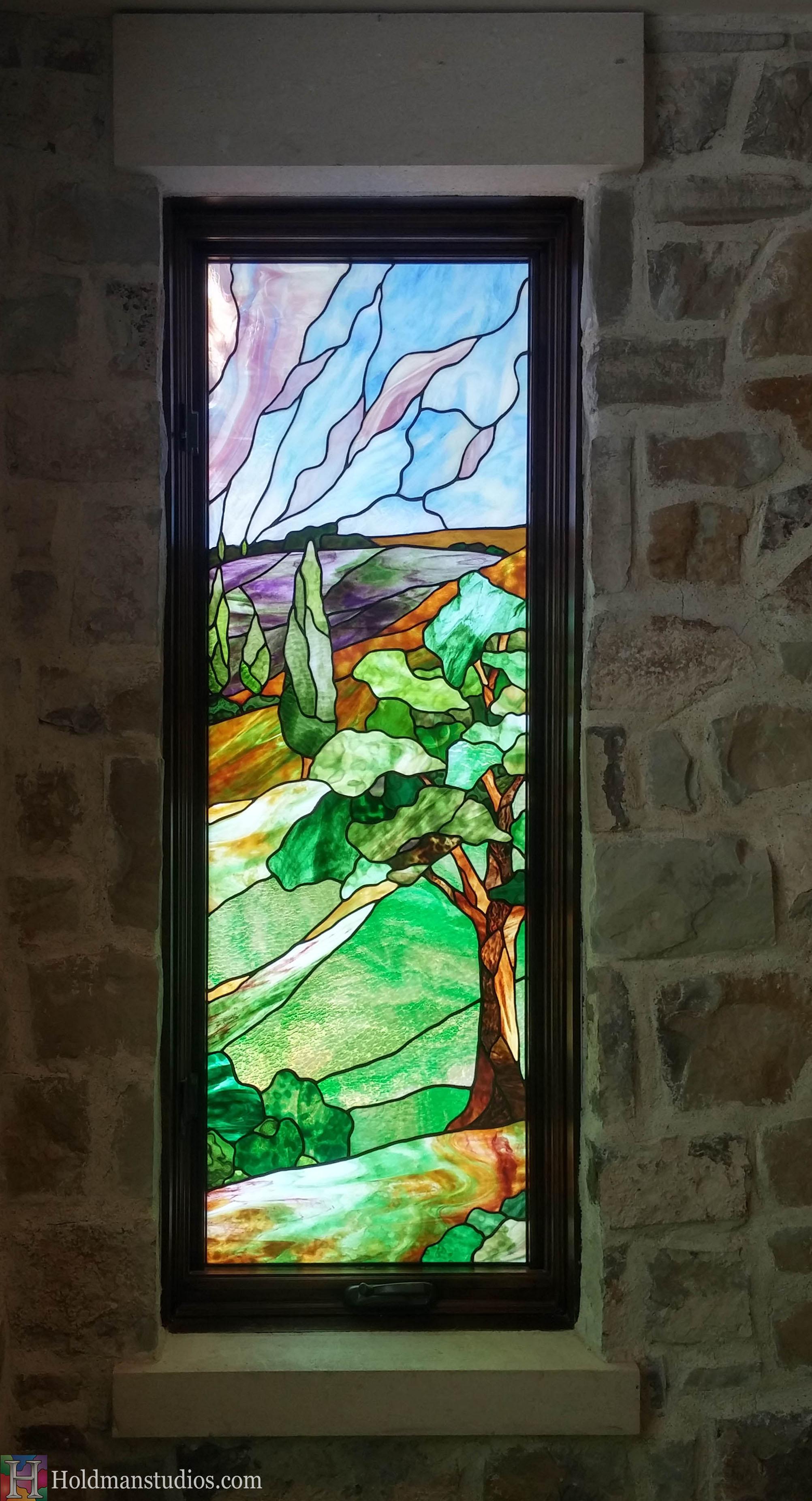 Holdman-Studios-Stained-Glass-Window-Landscape-Trees-Hill-Sky.jpg