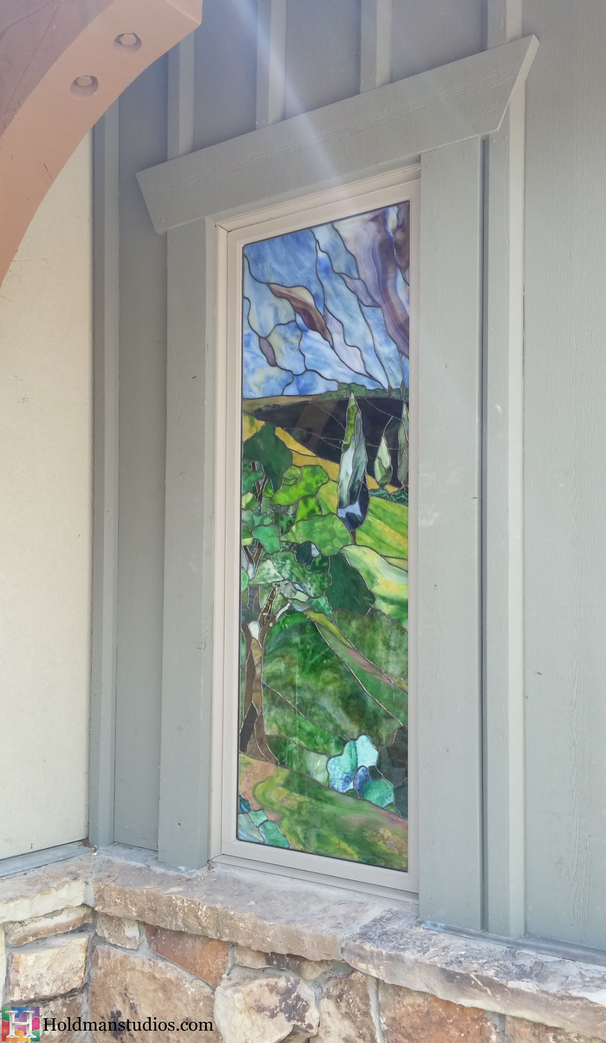 Holdman-Studios-Stained-Glass-Window-Landscape-Trees-Hill-Sky2.jpg