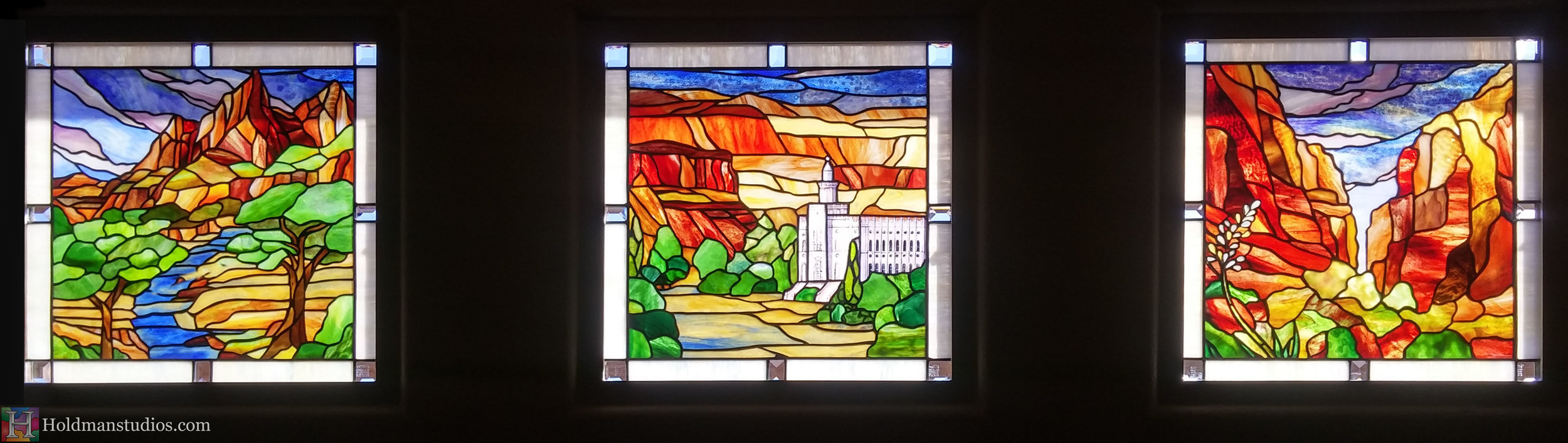 Holdman-Studios-Stained-Glass-Window-LDS-Manti-Temple-Southern-Utah-Mountians-Trees-Sky-Clounds-River-Agave-Plant-Flowers.jpg