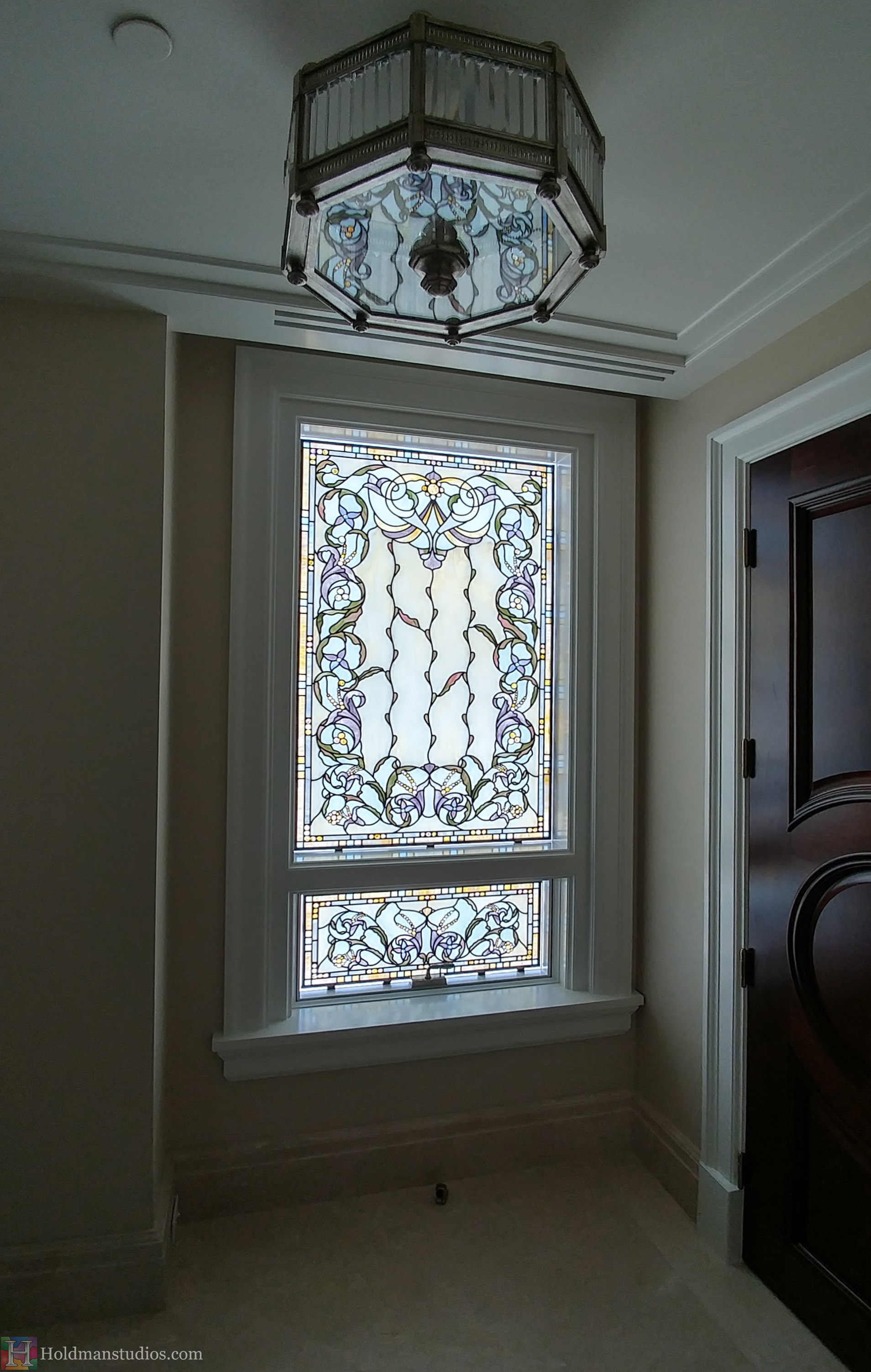 Holdman-Studios-Stained-Glass-Hallway-Windows-Flowers-Floral-Pattern-Handmade-Jewels-Square-Rectangles.jpg