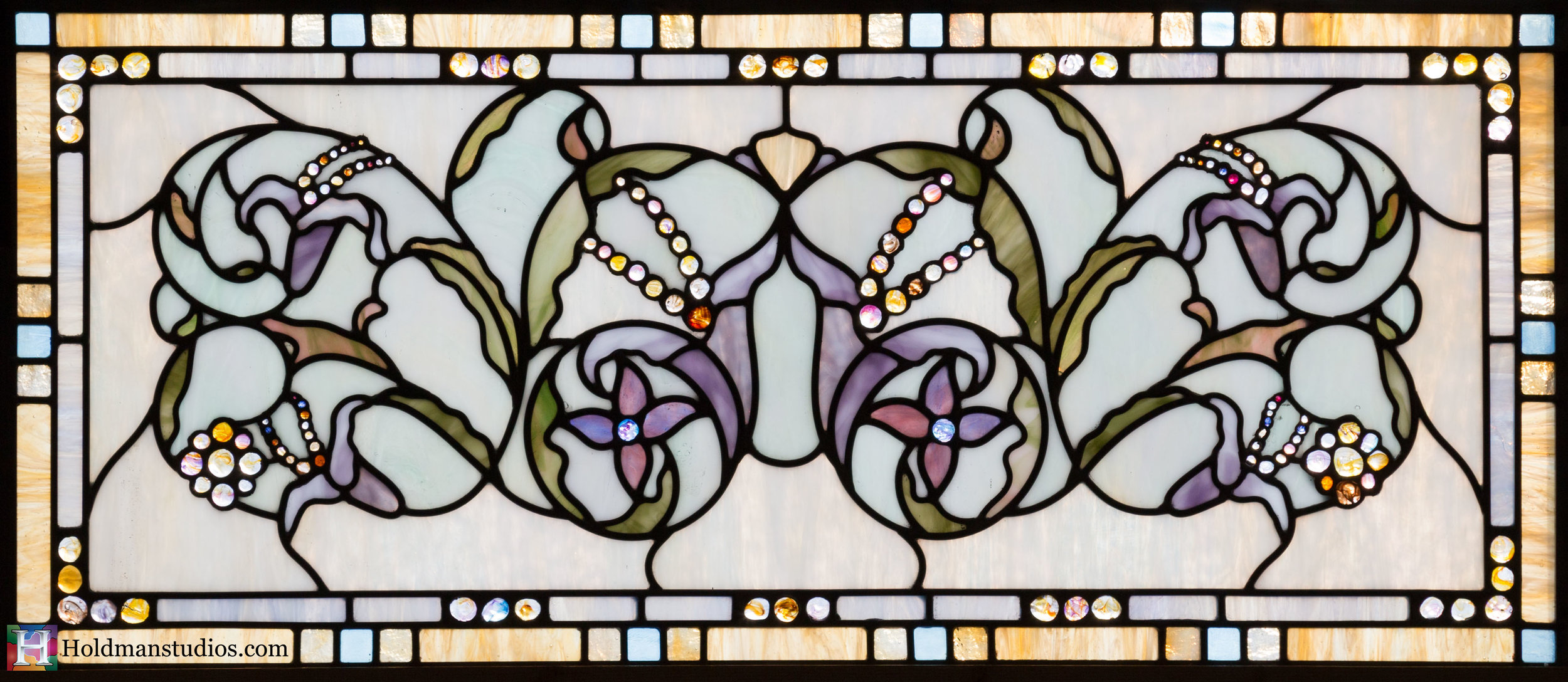 Holdman-Studios-Stained-Glass-Window-Flowers-Floral-Pattern-Handmade-Jewels-Square-Rectangles.jpg