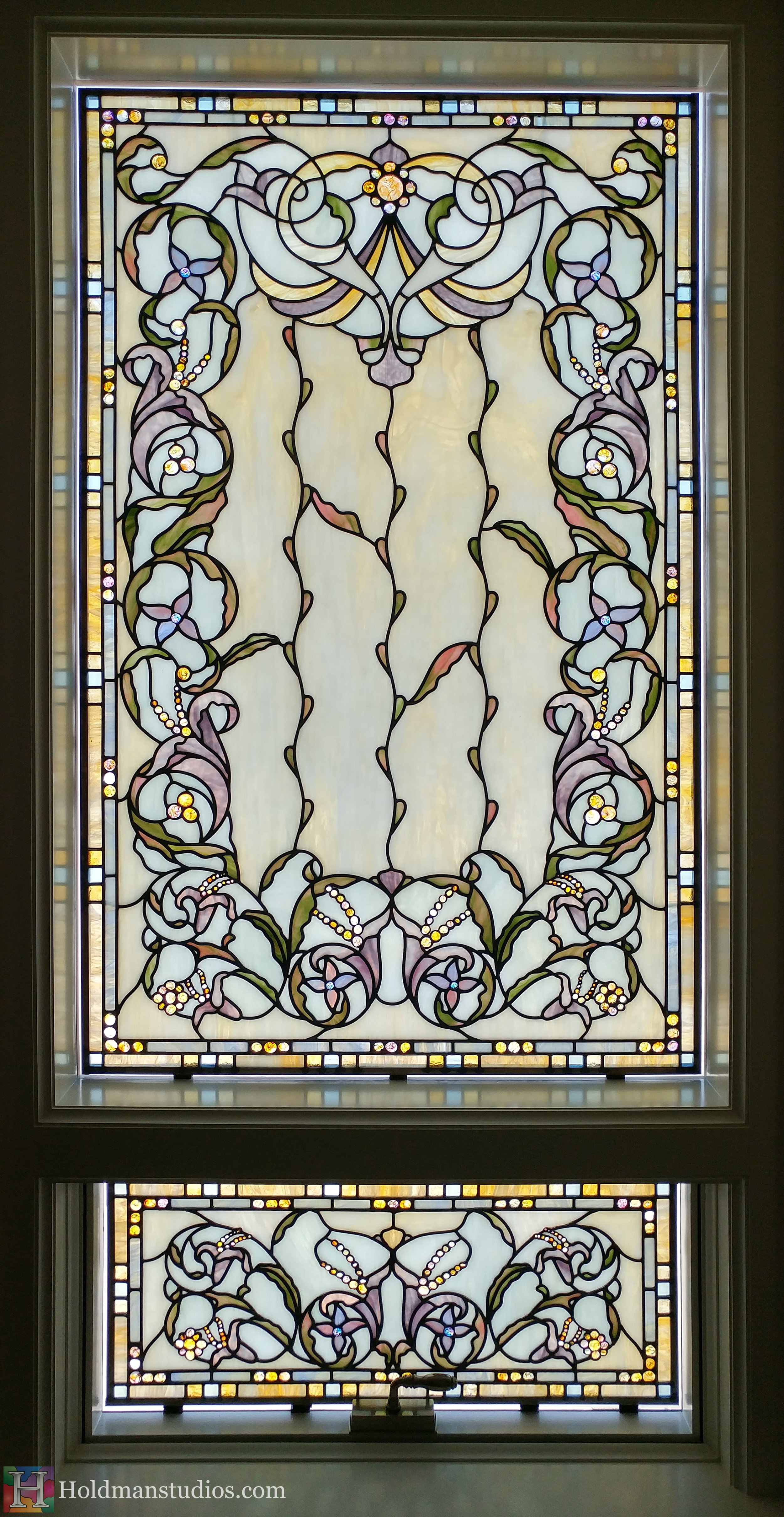 Holdman-Studios-Stained-Glass-Small-Windows-Flowers-Floral-Pattern-Handmade-Jewels-Square-Rectangles.jpg