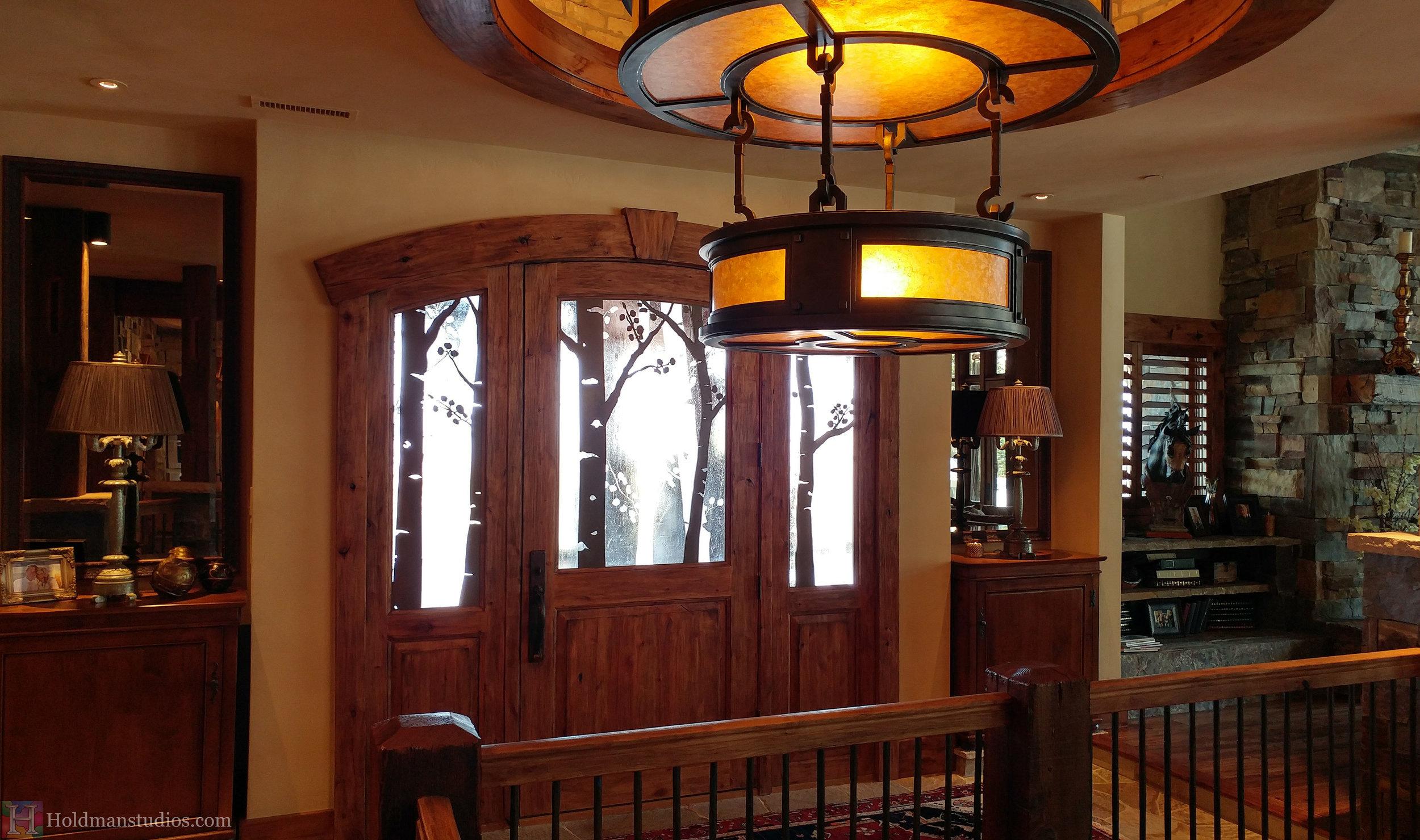 Holdman-studios-etched-art-glass-front-door-windows-aspen-trees-leaves-inside.jpg