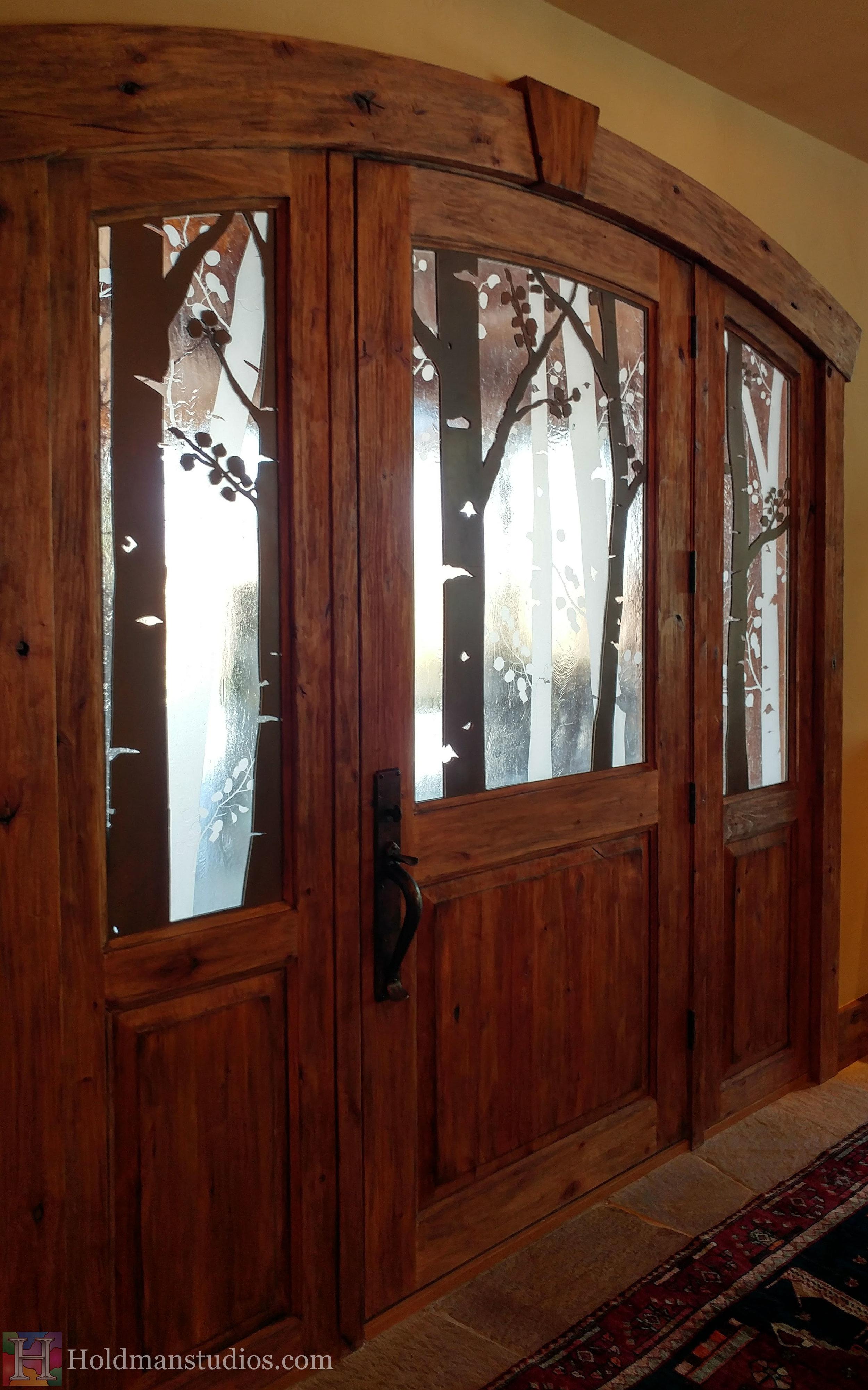 Holdman-studios-etched-art-glass-front-door-windows-aspen-trees-leaves-inside-left.jpg
