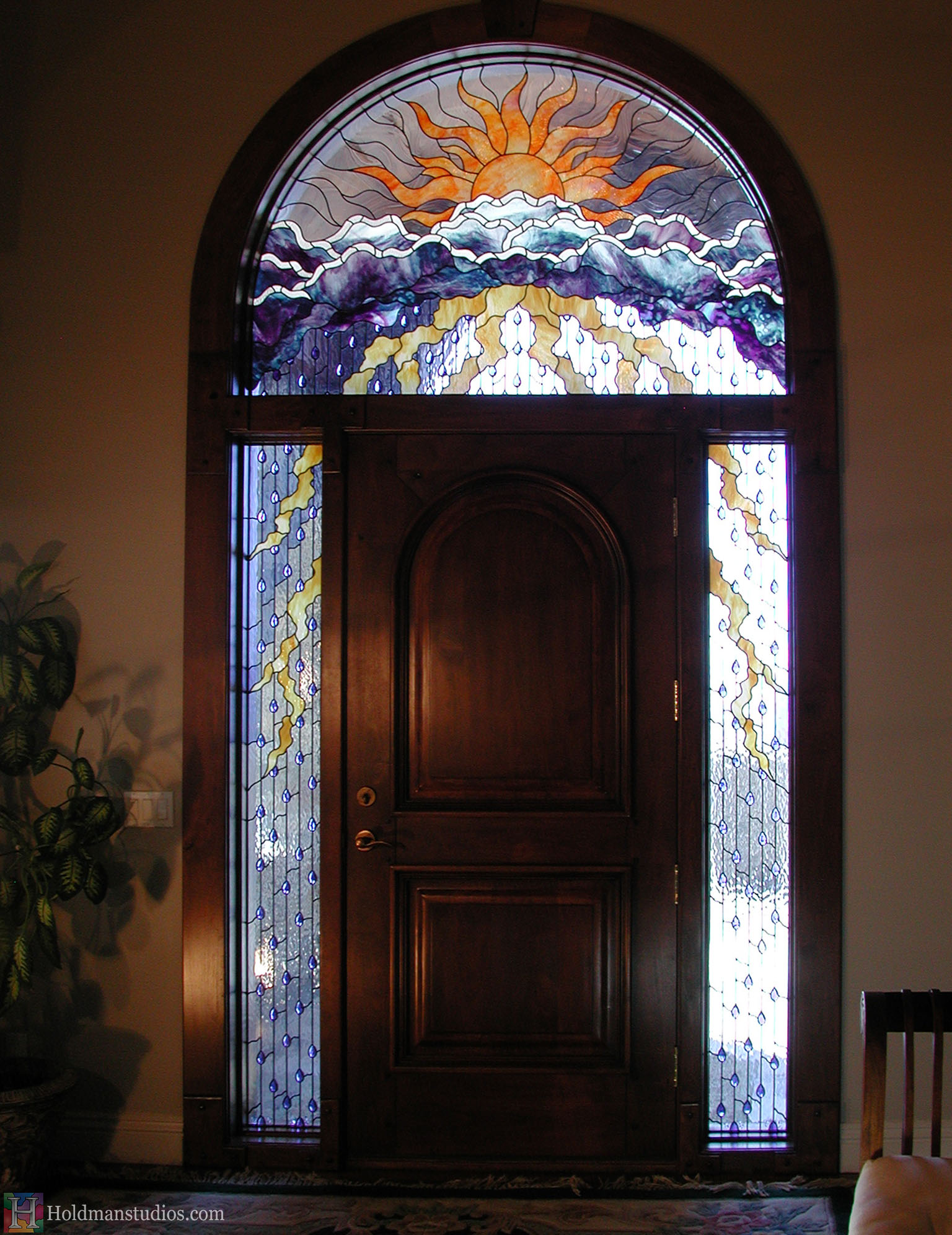 Holdman-Studios-Stained-Glass-Window-Doorway-Sun-Clouds-Rain-Lightning-Silver-Lining.jpg