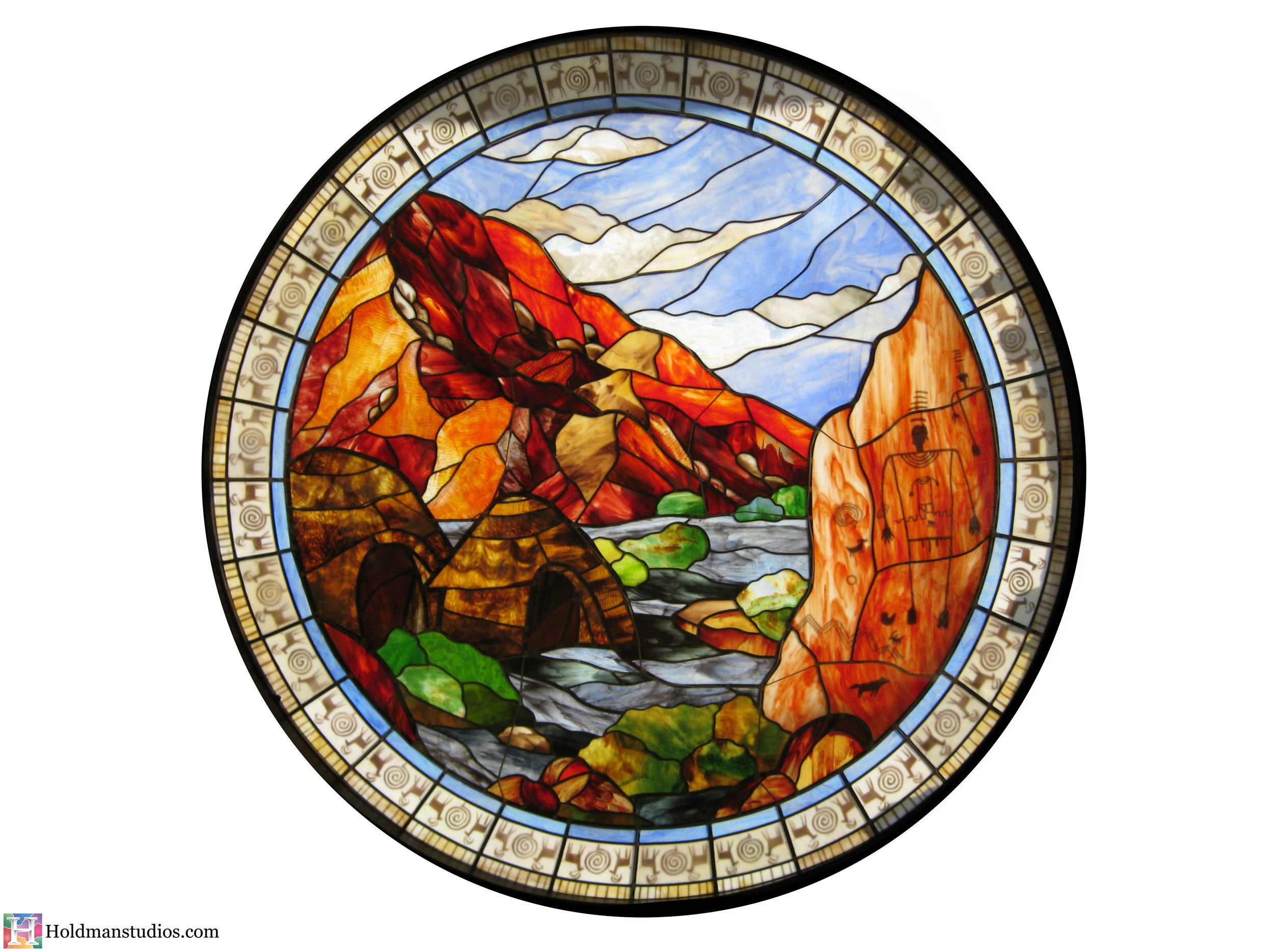 holdman-studios-stained-glass-window-st-george-town-square-river-mountains-trees-sky-clouds-native-american-symbols-writings.jpg