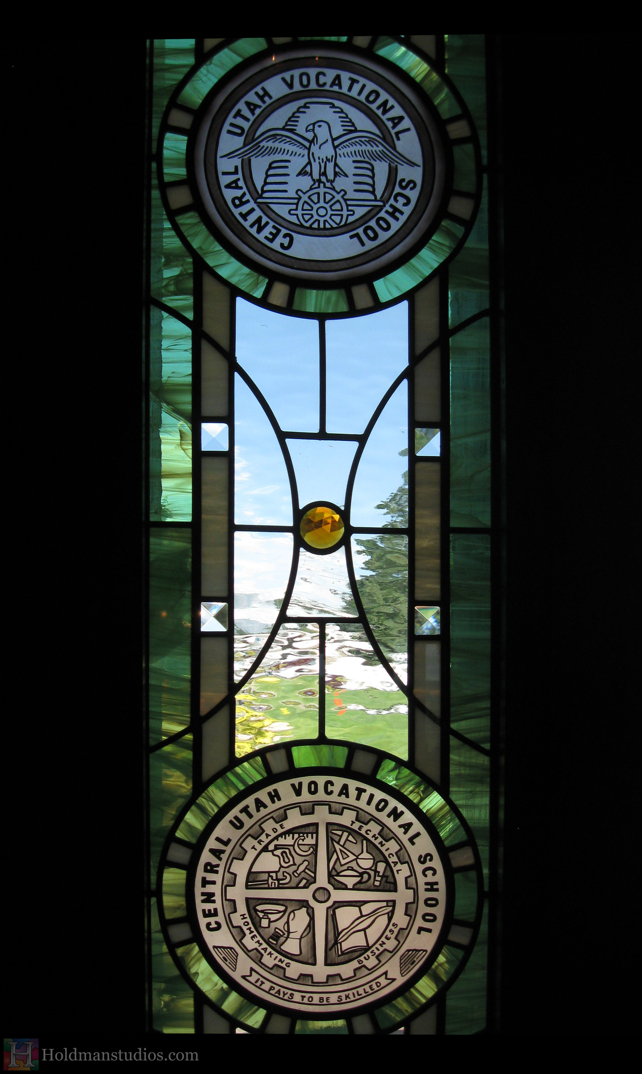 Holdman-studios-stained-etched-glass-front-door-sidelight-window-utah-valley-university-alumni-house.jpg