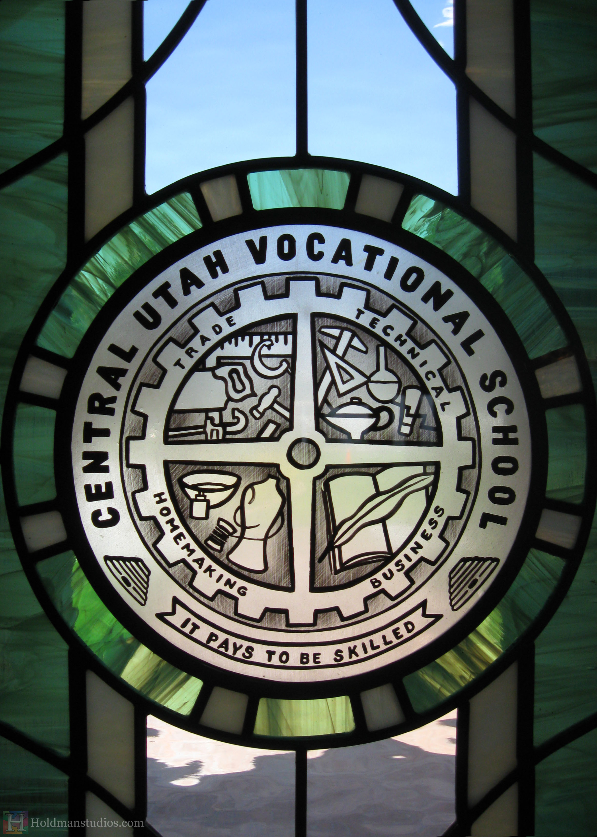 Holdman-studios-stained-etched-glass-front-door-window-utah-valley-university-alumni-house-crop.jpg