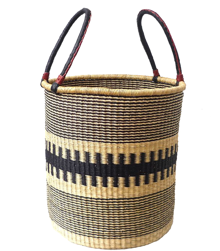 LAUNDRY BASKET   Handwoven by Deliba weaving cooperative in Bolgatanga, Ghana.
