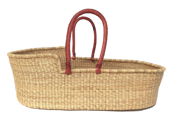 MOSES BASKET   Handwoven by Deliba weaving cooperative in Bolgatanga, Ghana.