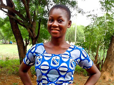 Dorcas at Ghana senior high school pose for a oicture.jpg