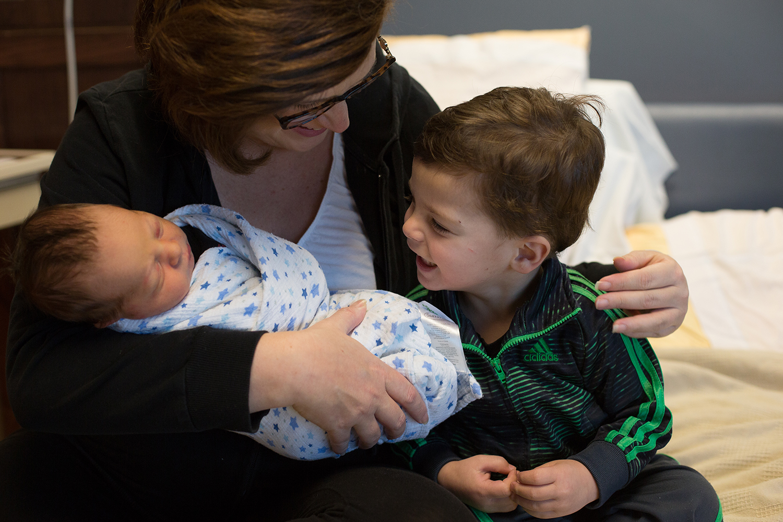 mother sons hospital photos