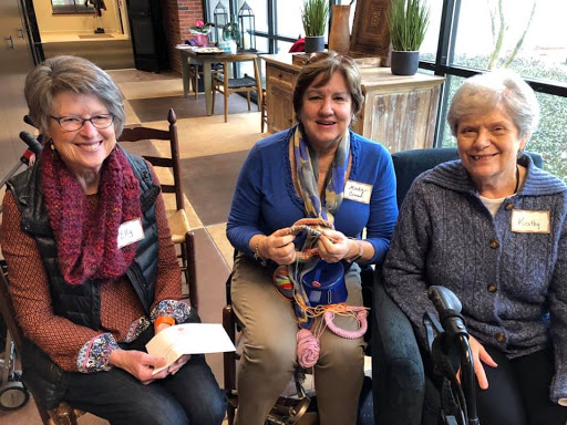 Elly Hulst, Mindy Orman and Kathy Lamberson gather to knit and crochet at the Old Hickory Blvd location.
