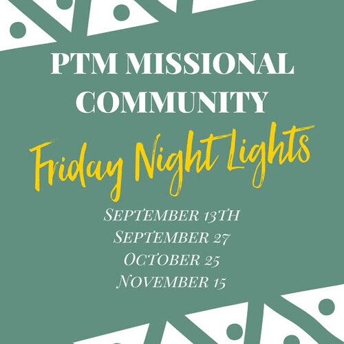 Fall 2019 dates for the Friday Night Lights programming—volunteers welcome!