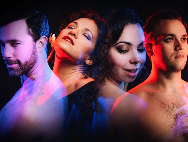 L-R: Wes Mason, Danielle Pastin, Eliza Bonet, and Joe 2.0 (Samuel Levine);Photo: Jason Lee Denton