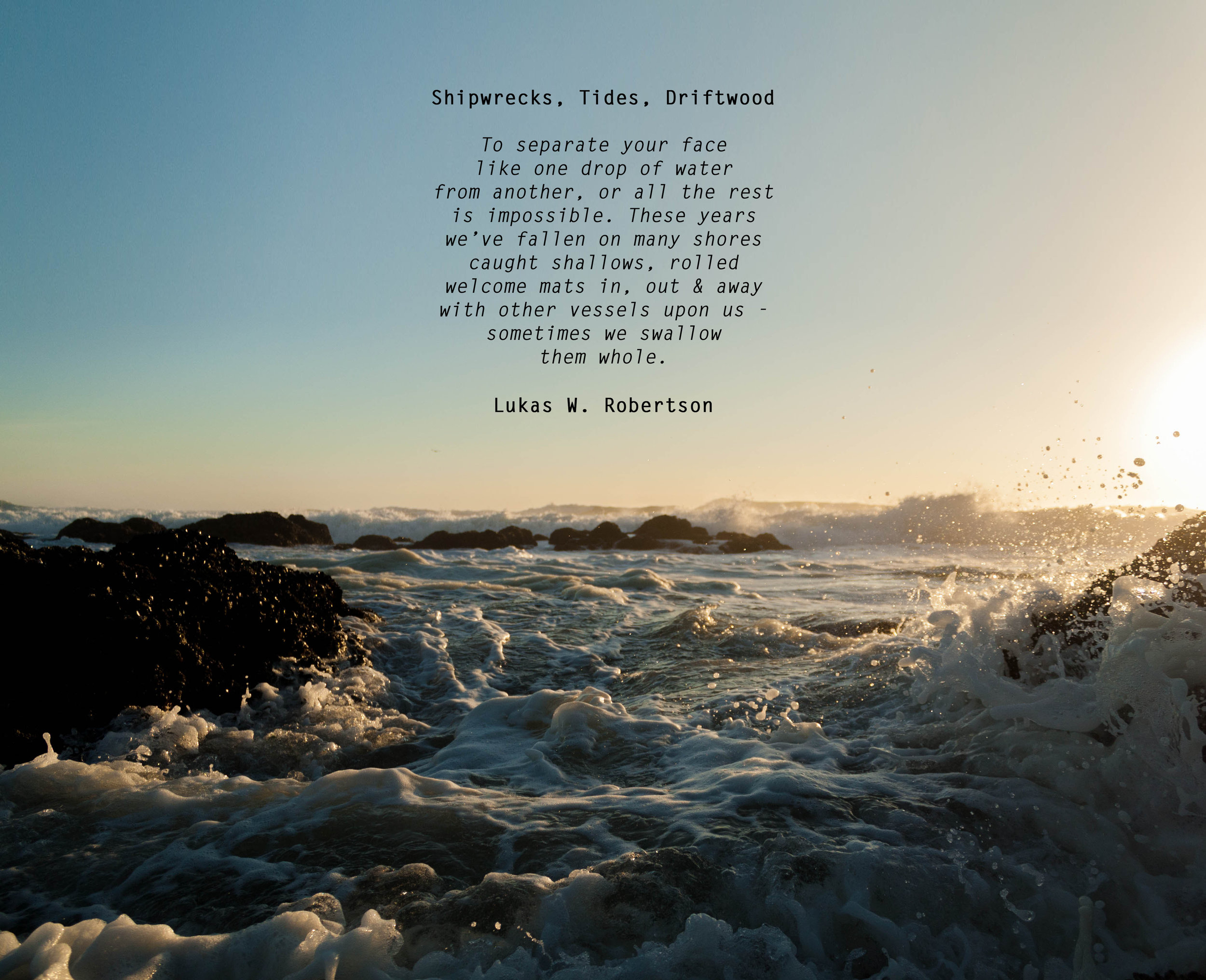 Shipwrecks, Tides, Driftwood
