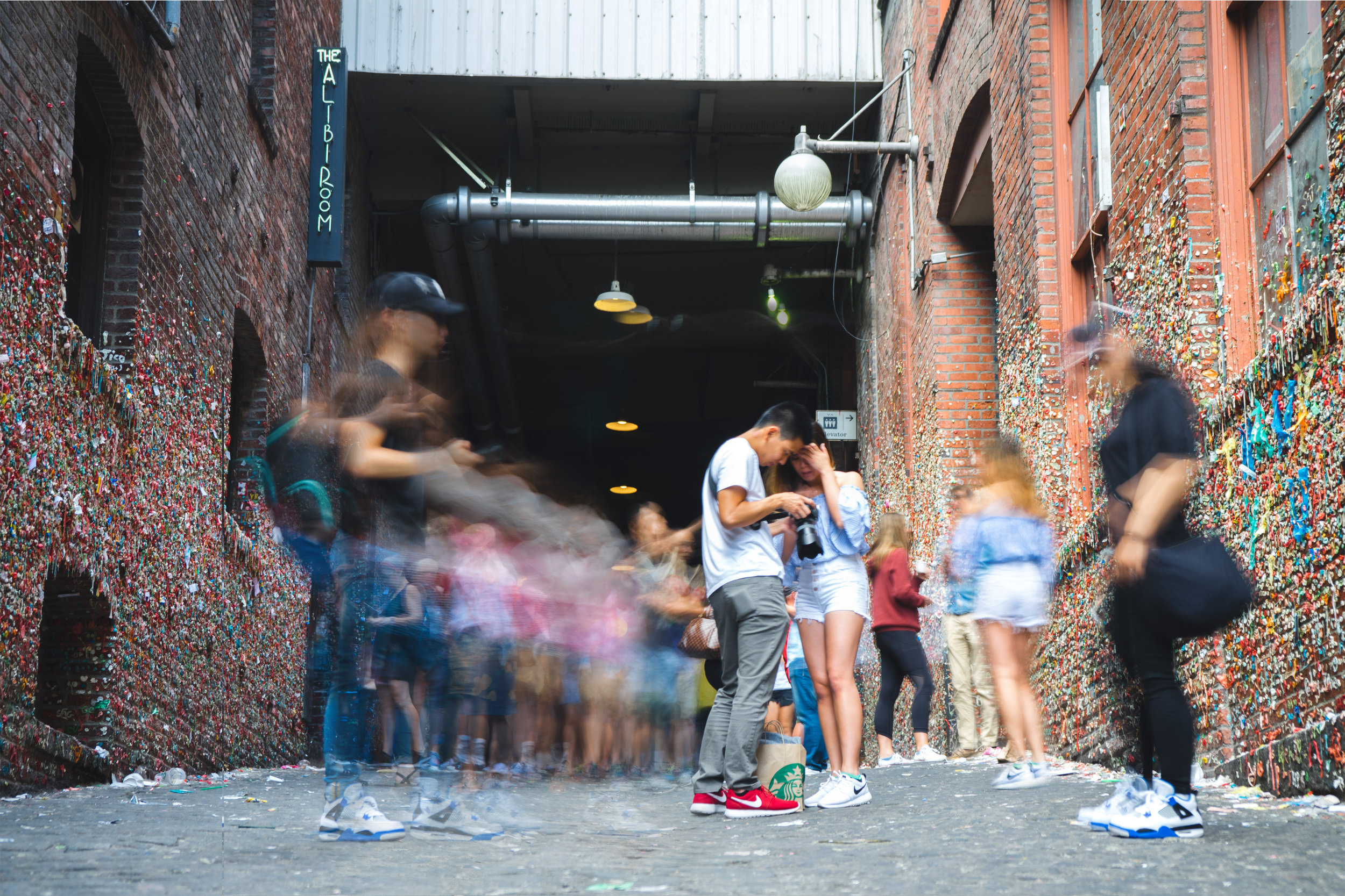 Gum Wall - Hustling and Bustling, and taking photos.jpg
