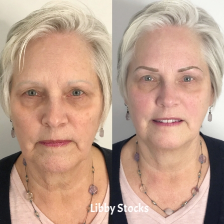 Cover up work (I did not tattoo her original brows) | covered with a Powder brow