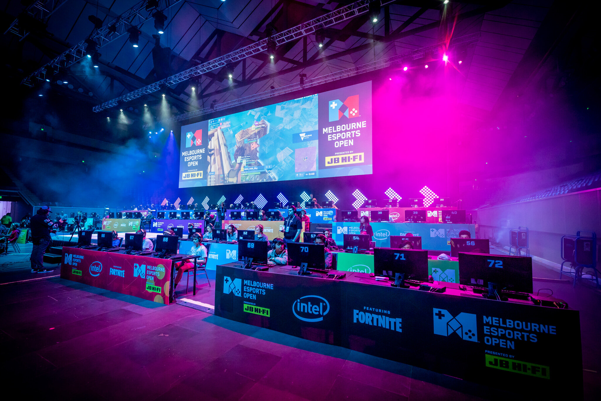 Fortnite at Margaret Court Arena for the Melbourne Esports Open 2019
