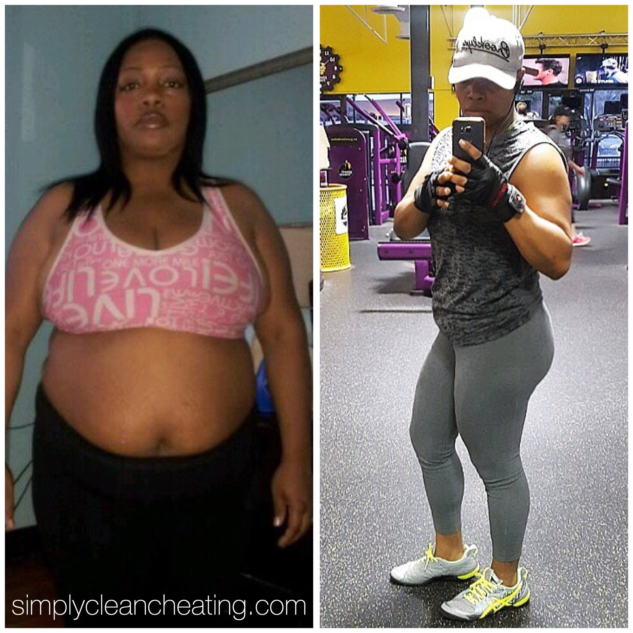 Nieta's fitness journey is amazing! check out her website to follow her transformation at  www.simplycleancheating.com