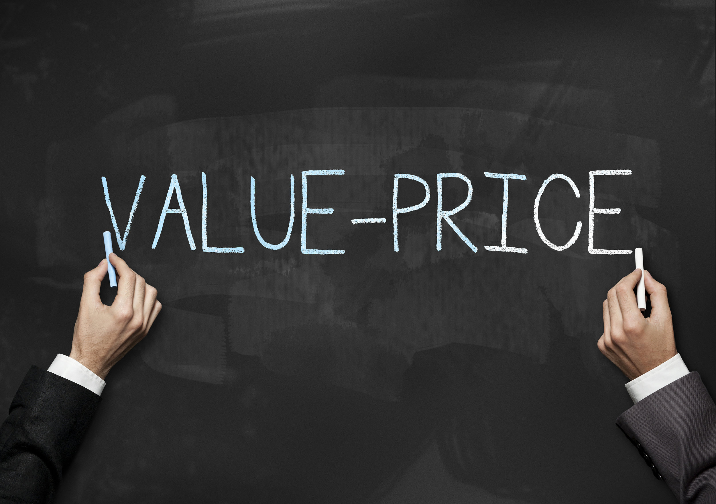 Value - Price / Blackboard (Click for more)