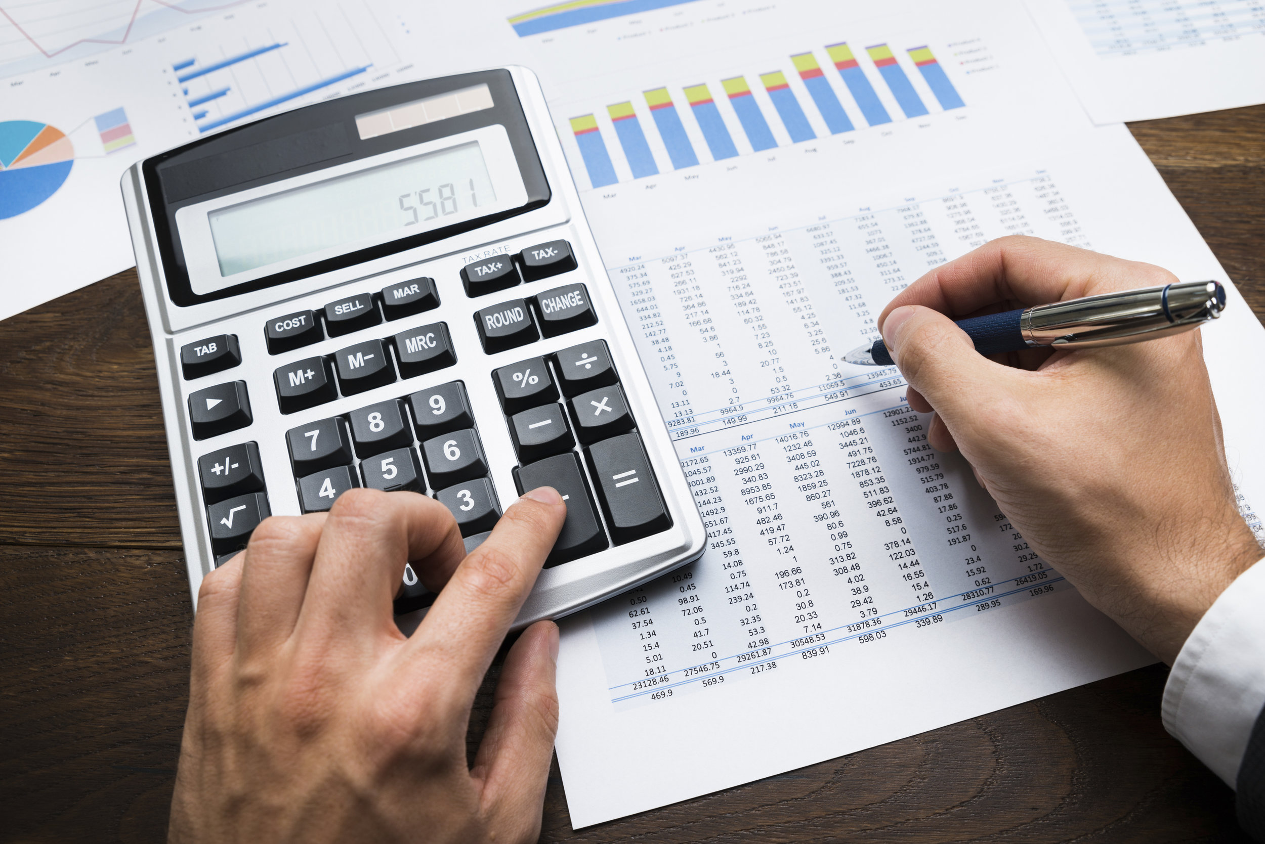 Businessman Doing Financial Calculations