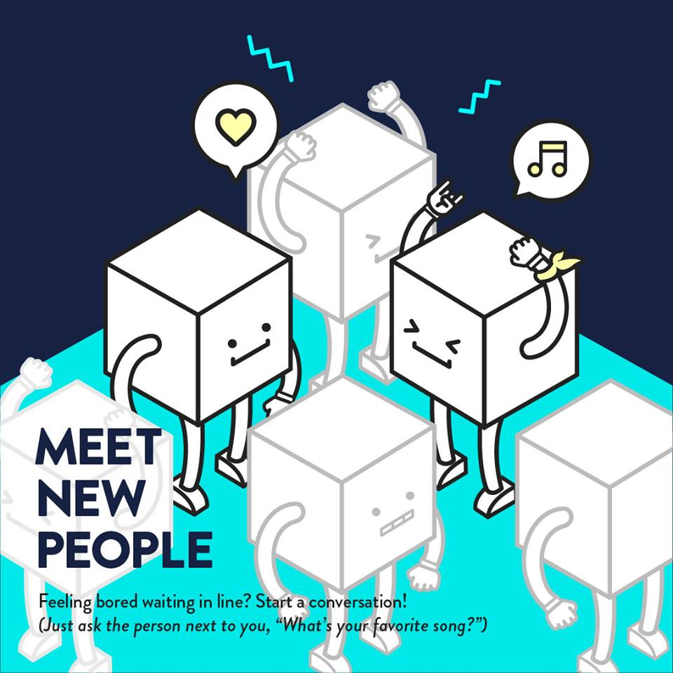 8) Make new friends - One of the best things about going to a concert is meeting like-minded fans and making friends!Everyone there likes the same band! You already have a common interest, so introduce yourself and talk about why you love the artist!