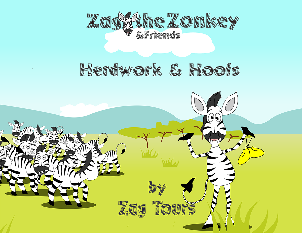 Zag the Zonkey Herdwork and Hoofs Book Cover.png