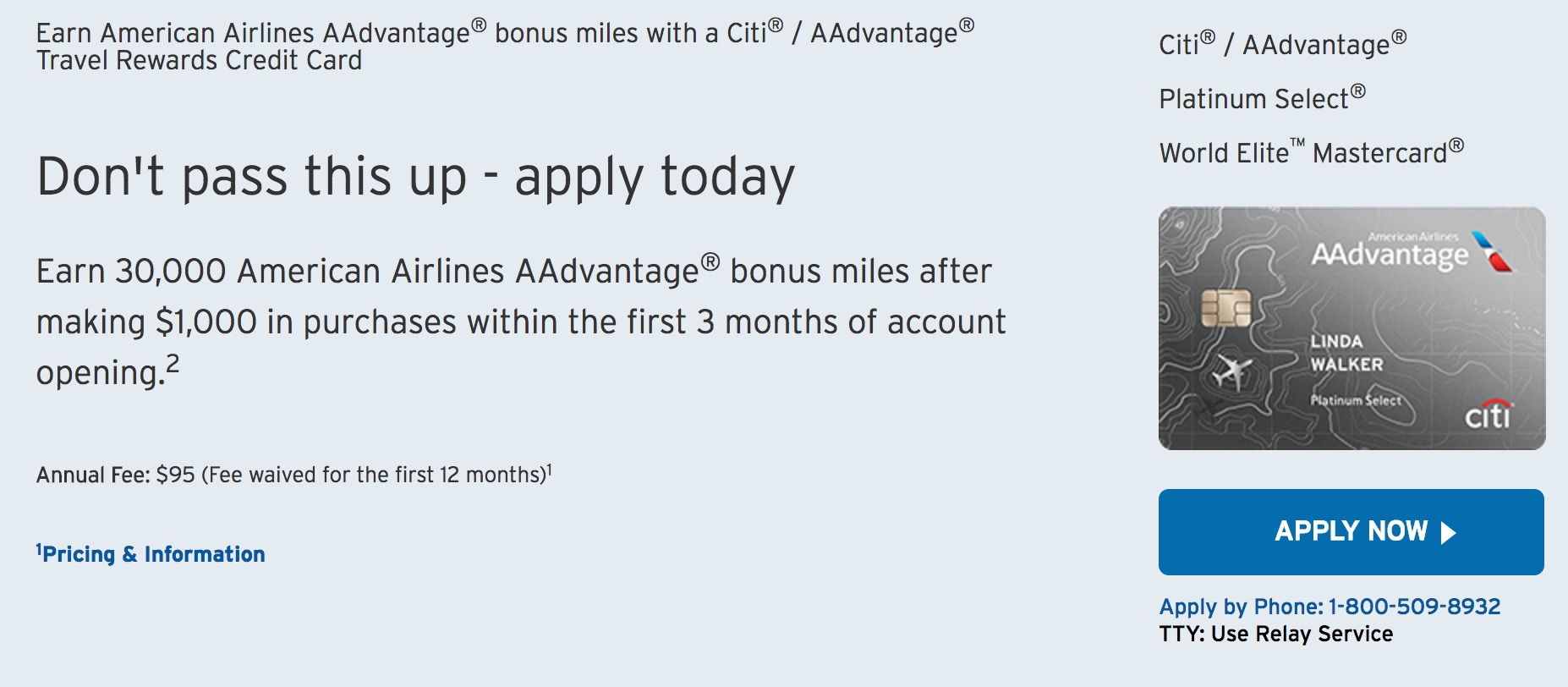 This public Citi AAdvantage link only offers 30,000 miles (but for less spend)