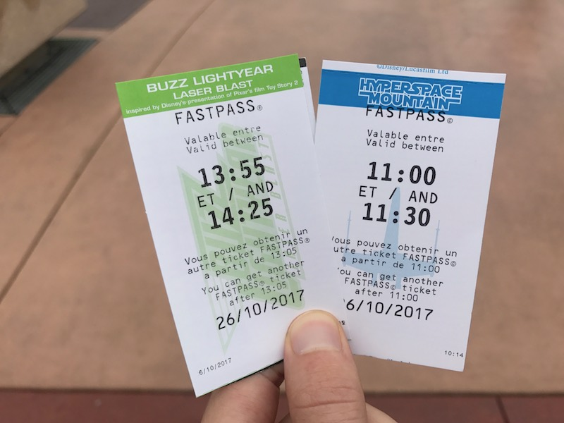 It really happens, here I have two Disneyland Paris Fastpass tickets at once!