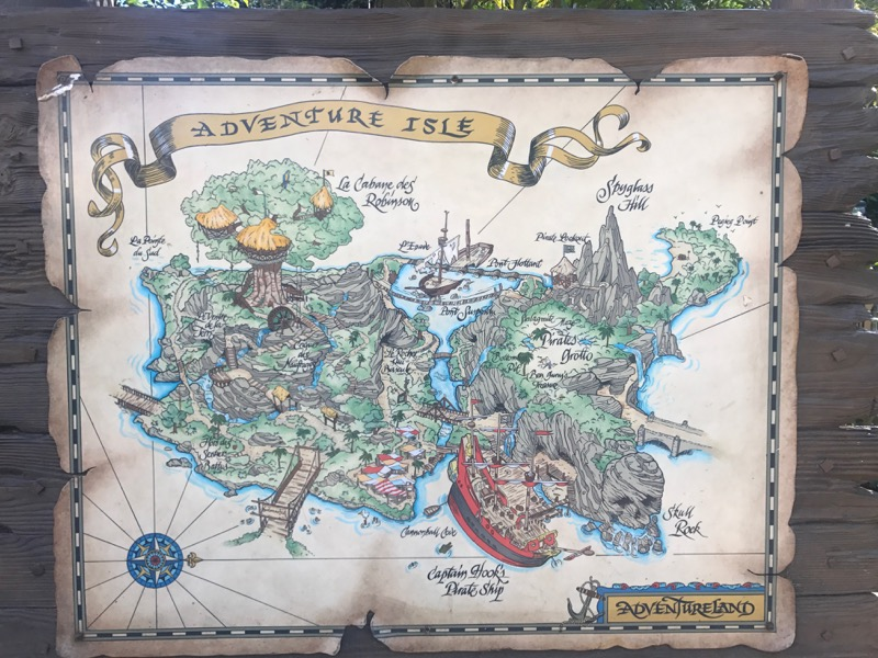 This map won't save you from getting lost on Adventure Isle.