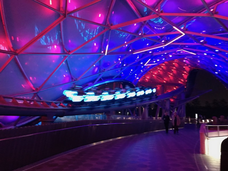 TRON at night is a great experience!