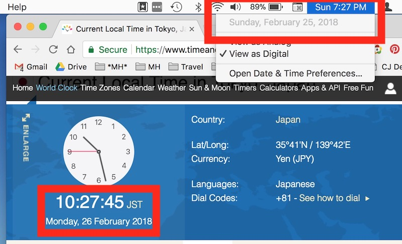 TimeAndDate.com helps you make sure you're keeping your eye on Tokyo time.