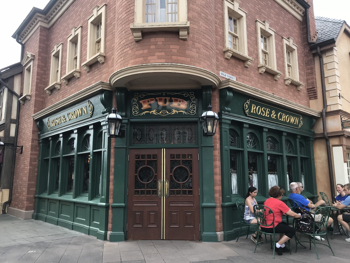 epcot one day itinerary scenery rose and crown.jpg