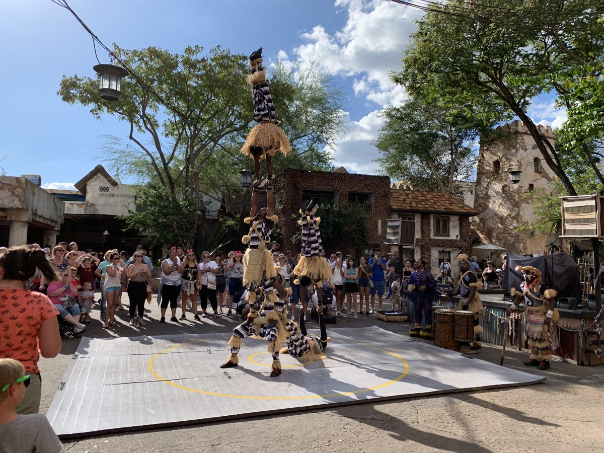 animal kingdom one day itinerary harambe acrobats.jpg